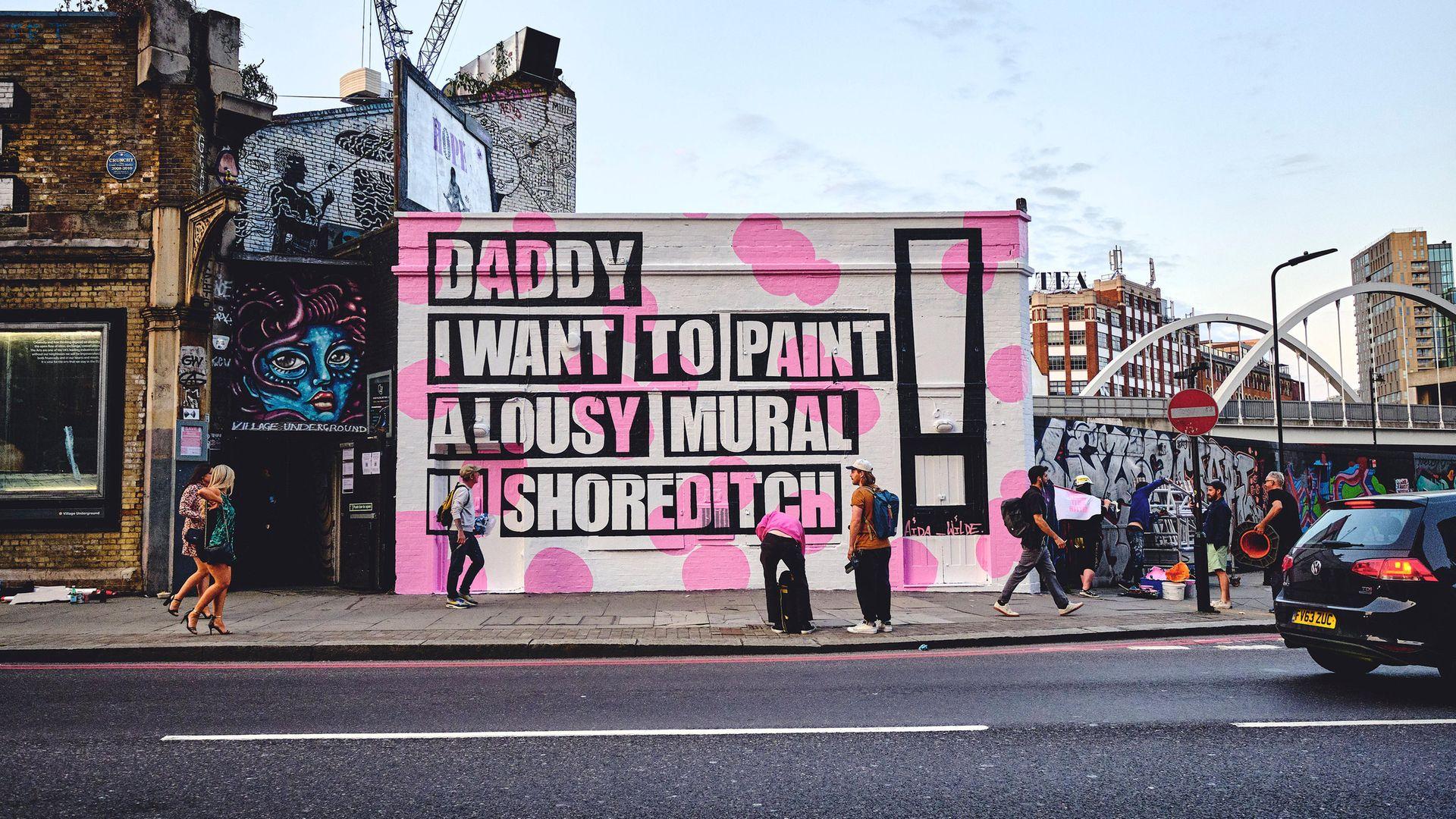 Aida Wilde's Lousy Mural in Shoreditch - Credit: Aida Wilde