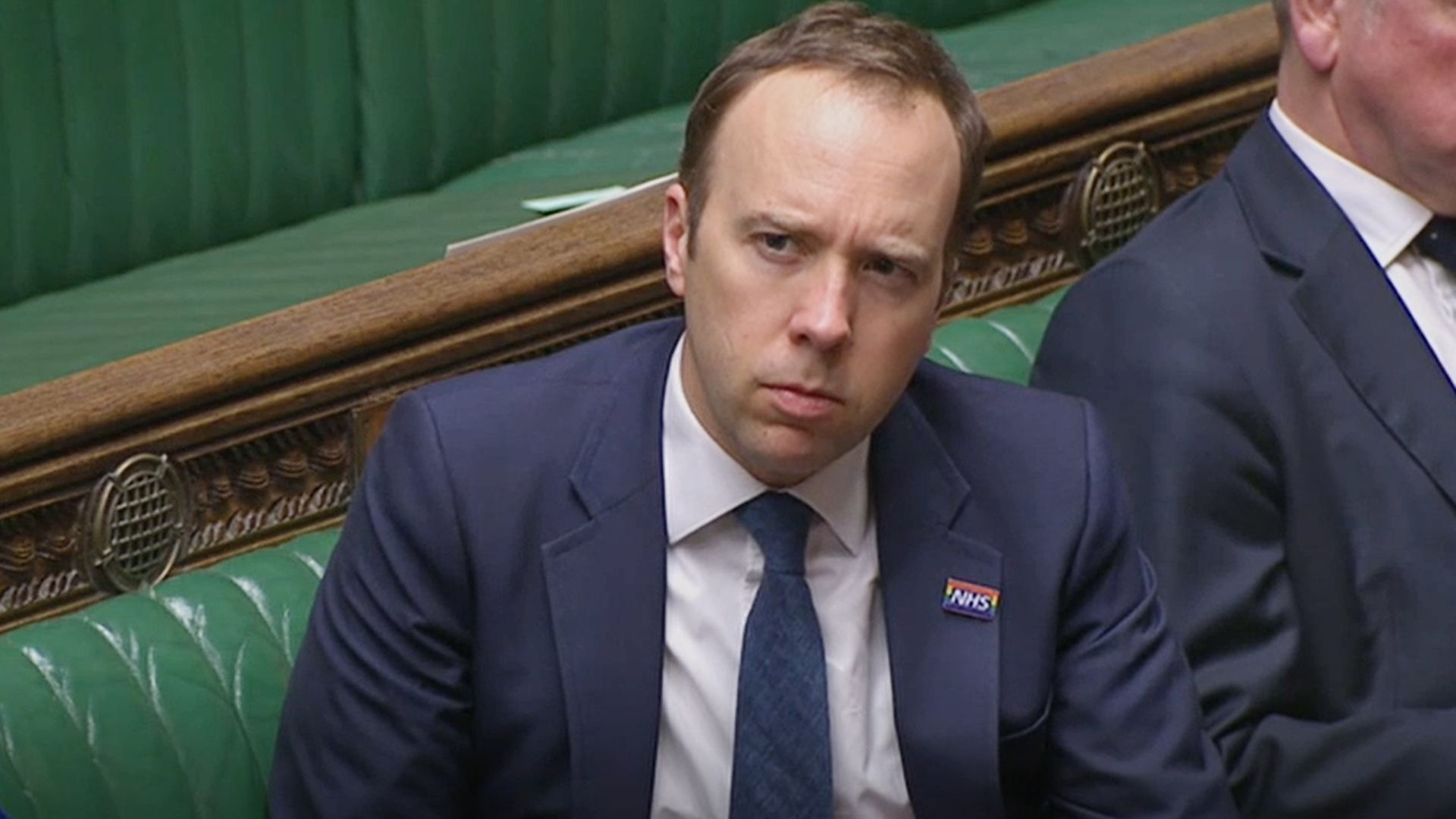 Health secretary Matt Hancock during Prime Minister's Questions in the House of Commons, London - Credit: PA