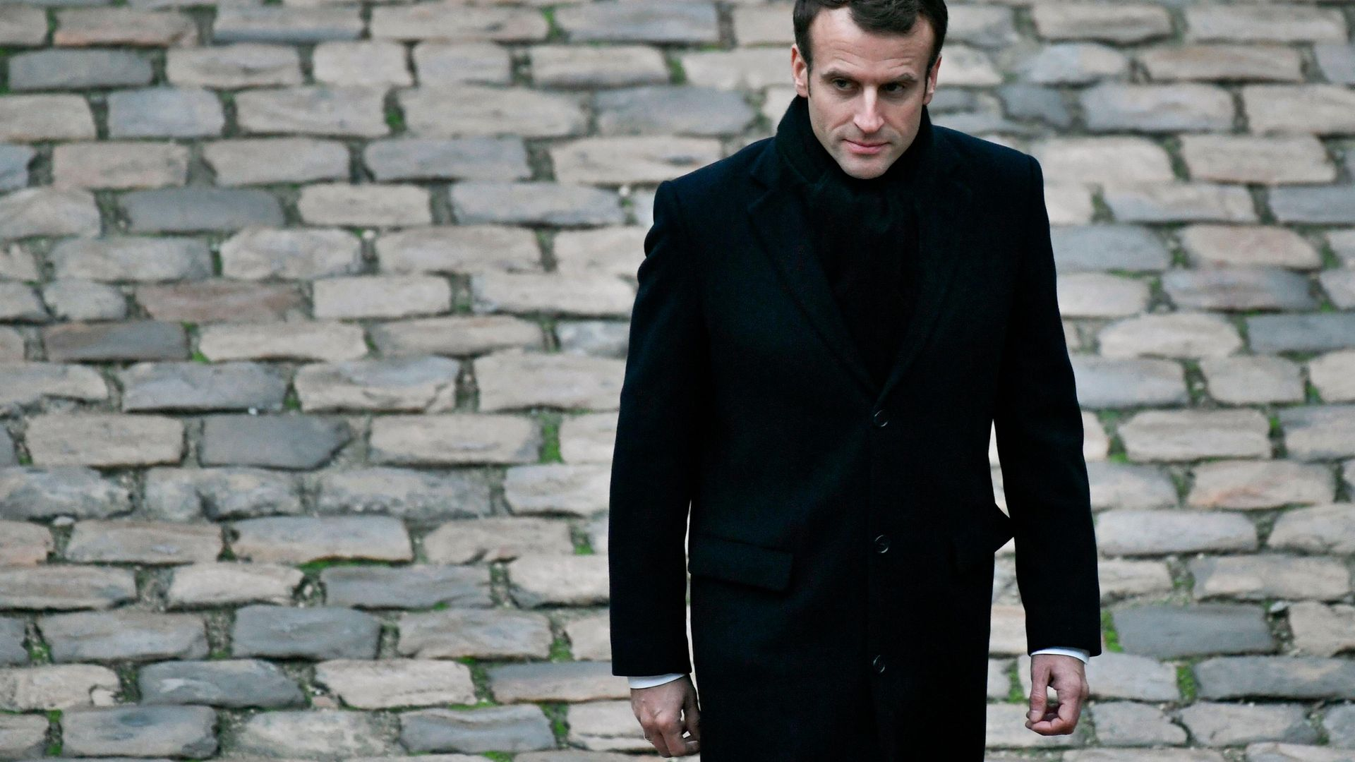 Emmanuel Macron at a military ceremony at the Invalides in Paris, in November 2018 - Credit: AFP via Getty Images