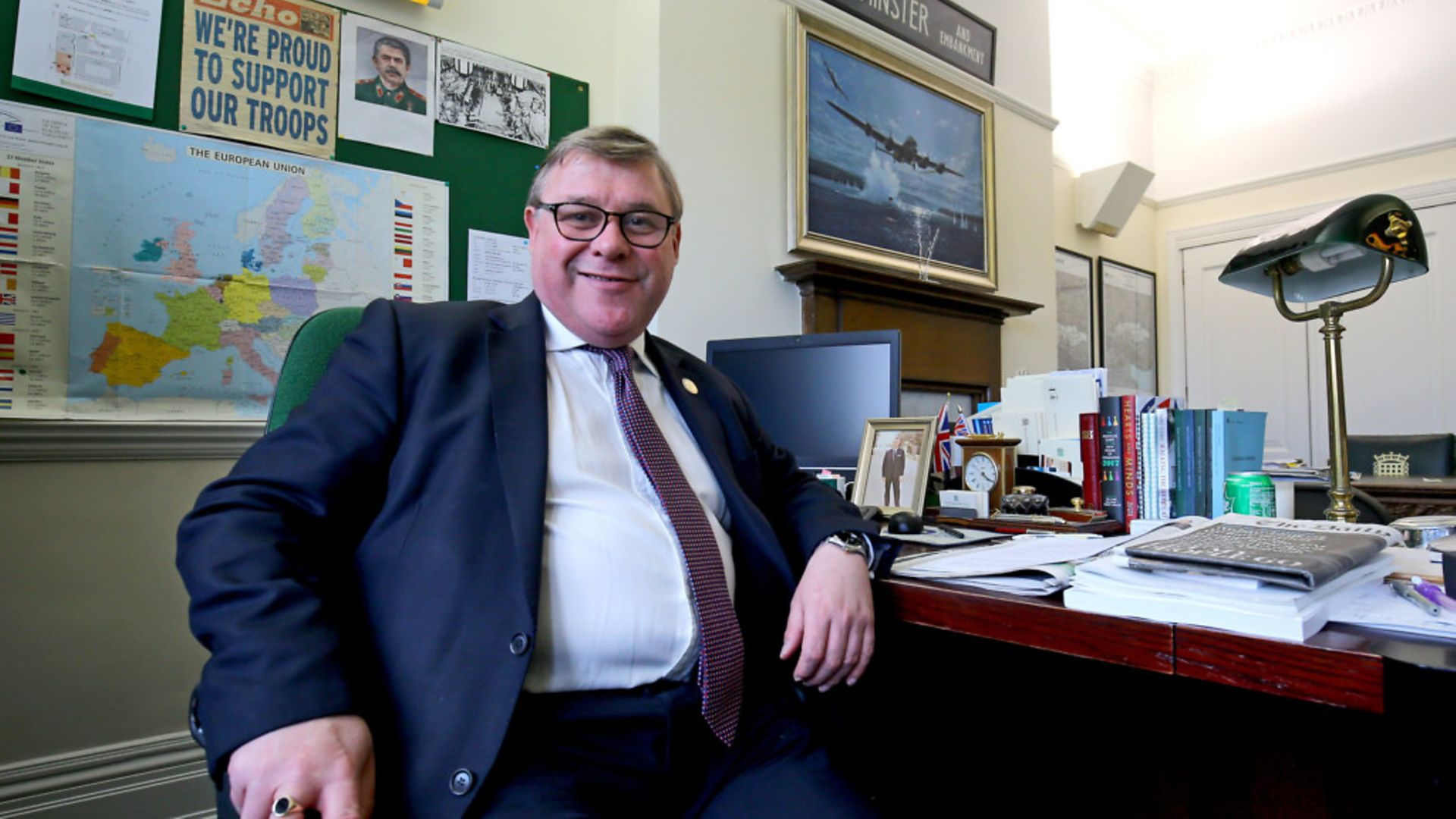 Mark Francois speaking in his office in the Houses of Parliament. - Credit: PA Archive/PA Images