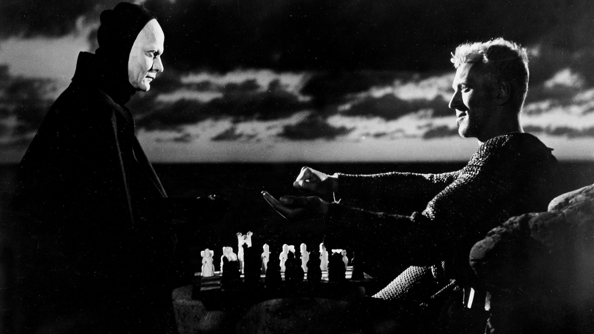 Max von Sydow and Bengt Ekerot The Seventh Seal - Credit: ullstein bild via Getty Images