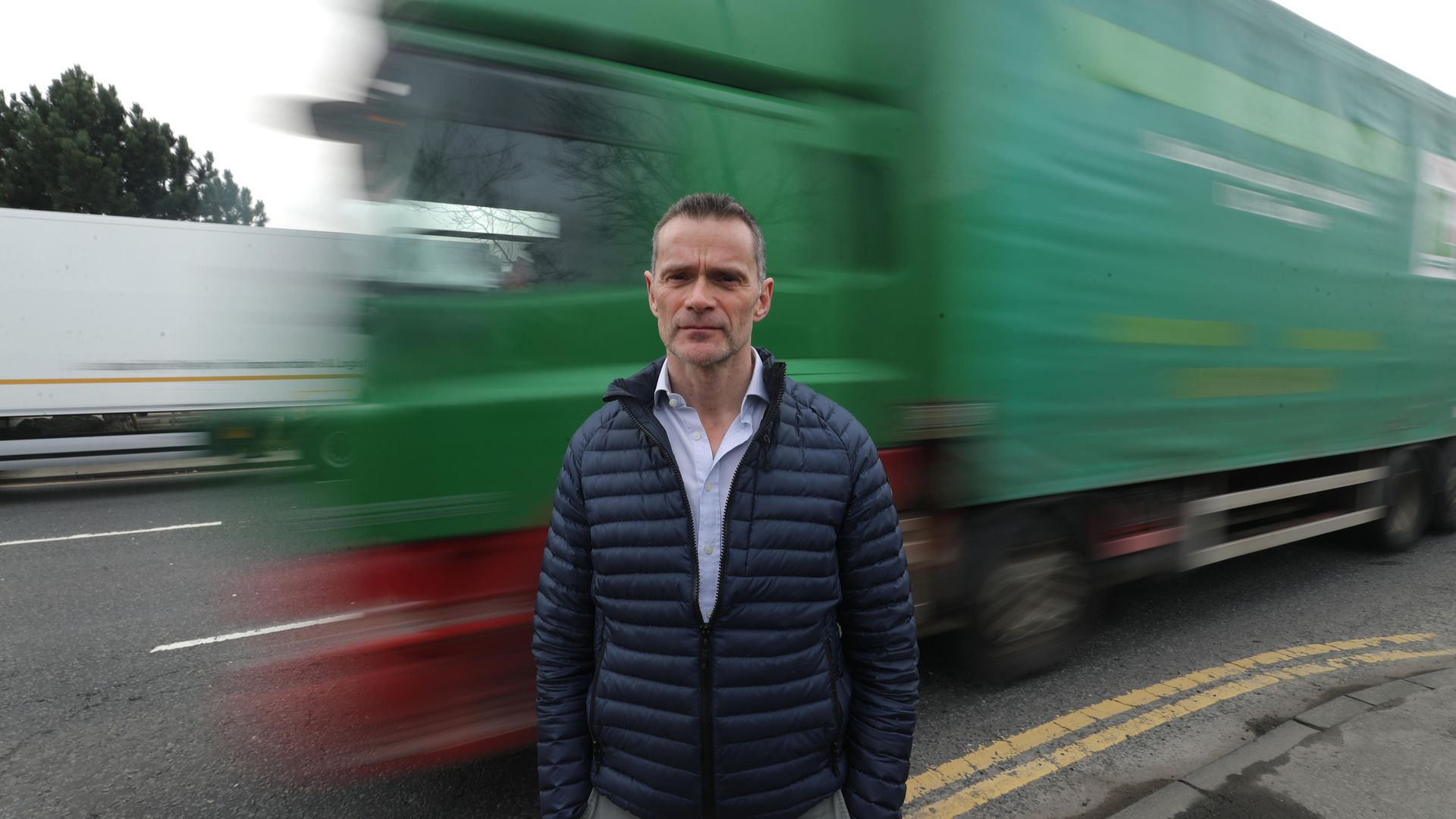 Gary Stewart of Quay Cargo services in Belfast who believes that time and money are being wasted chasing unnecessary paperwork for businesses exporting from Northern Ireland to the EU - Credit: PA