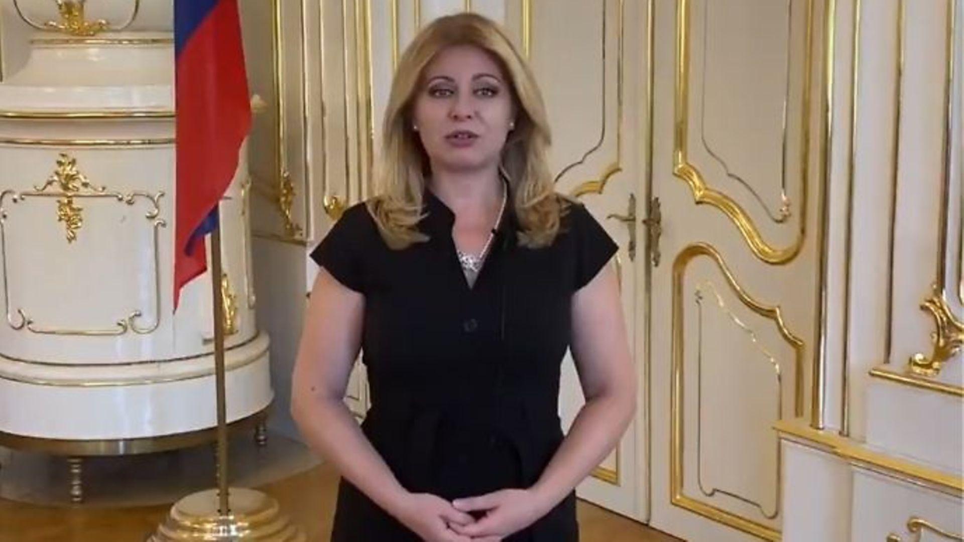 Slovak president Zuzana Čaputová - Credit: Twitter
