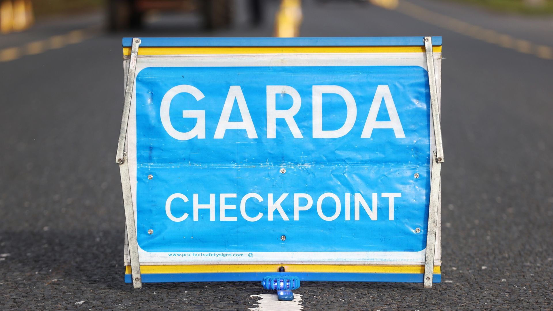 A Garda checkpoint on the Irish border between Emyvale and Aughnacloy - Credit: PA