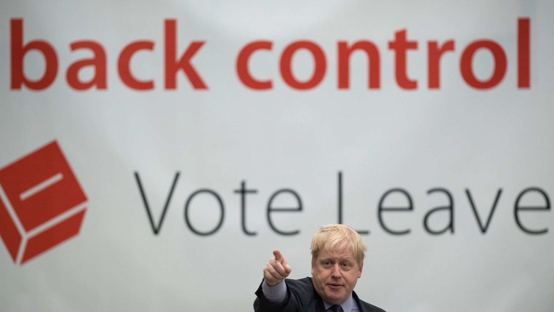 Then mayor of London, Boris Johnson, delivers a speech during a Vote Leave campaign event at the Europa Worldwide freight company in Dartford, Kent - Credit: PA