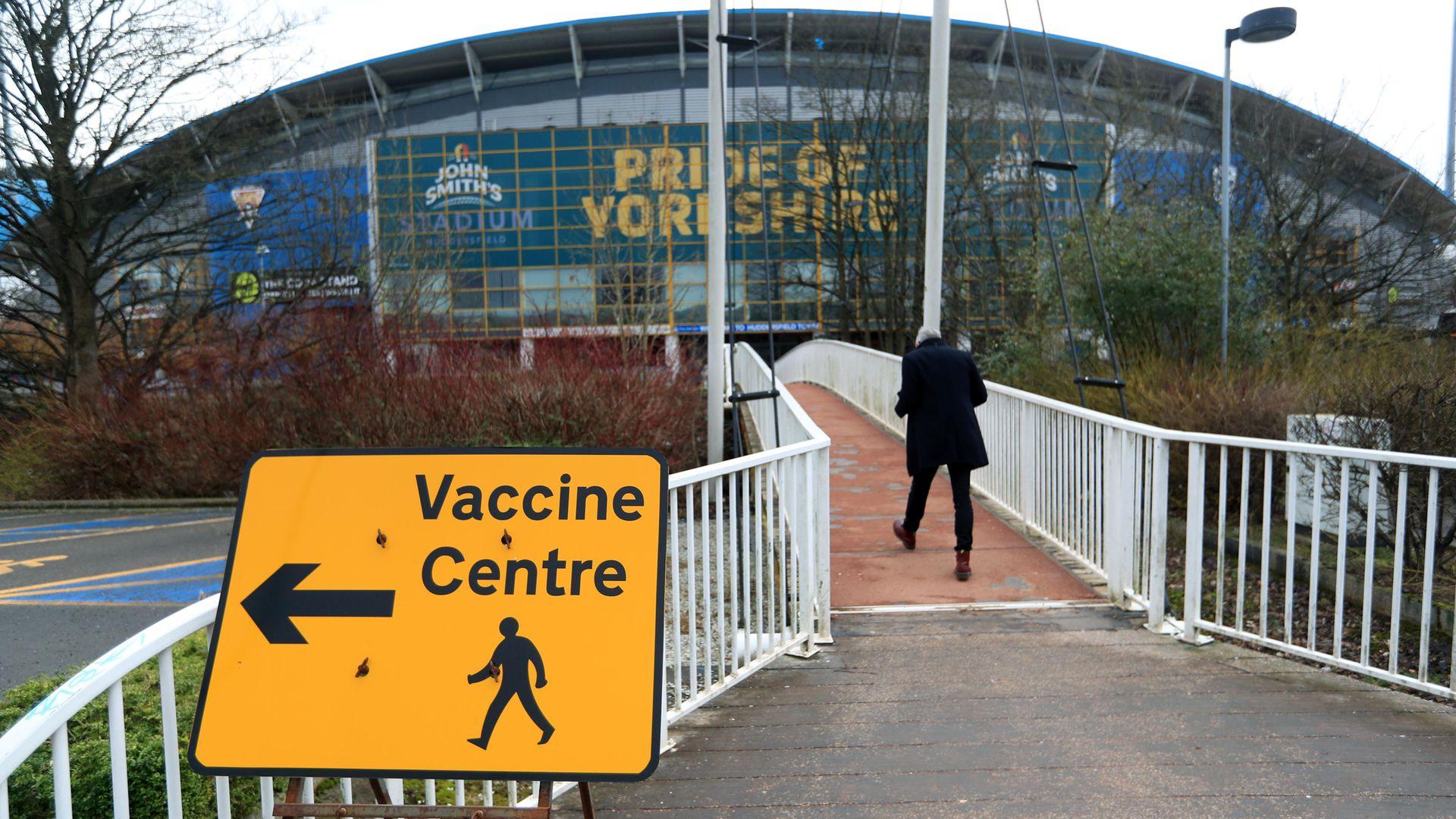A Vaccine Centre near the John Smith's Stadium, Huddersfield - Credit: PA