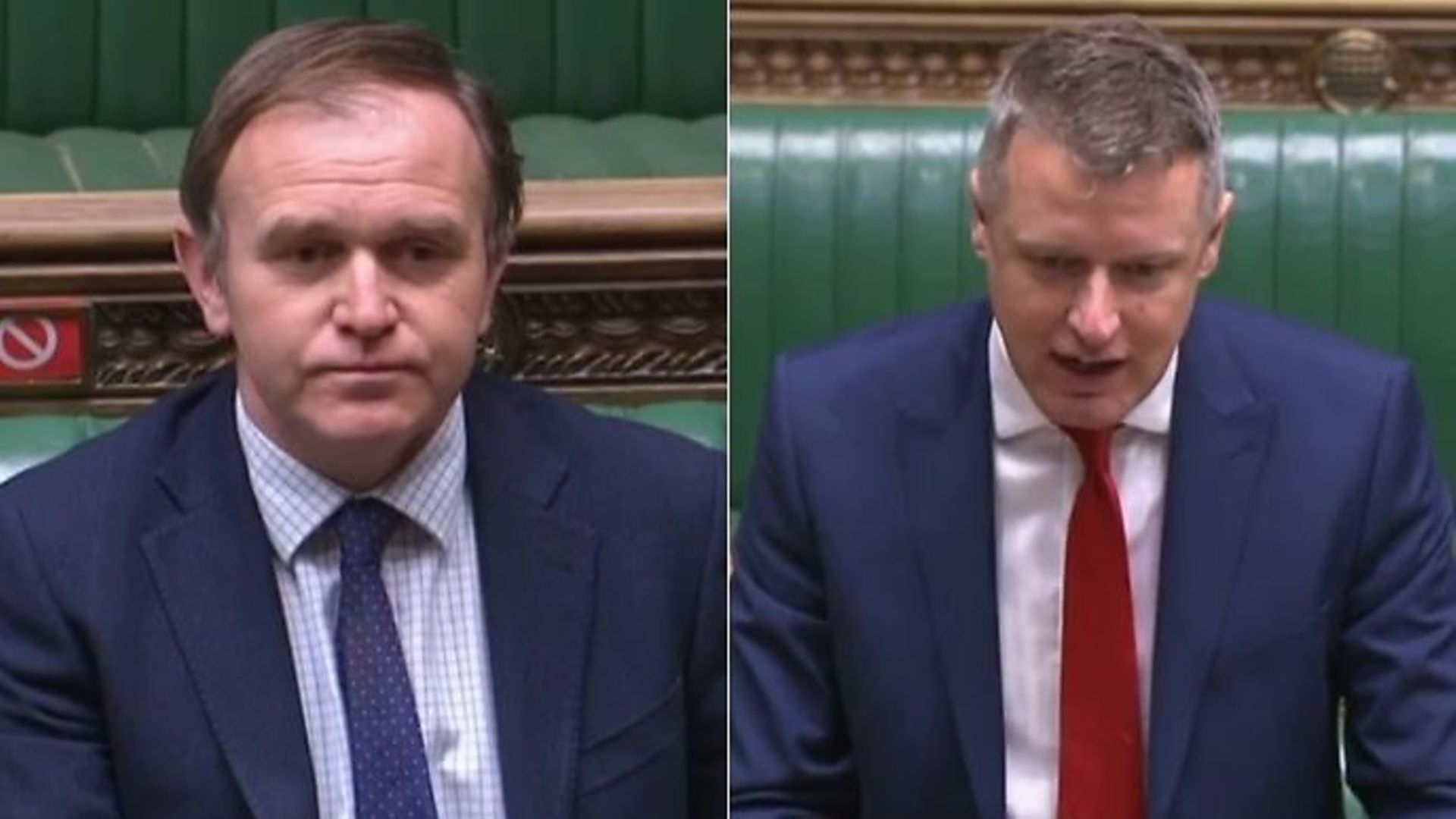 Environment secretary George Eustice (L) and Labour's Luke Pollard in the House of Commons - Credit: Parliamentlive.tv
