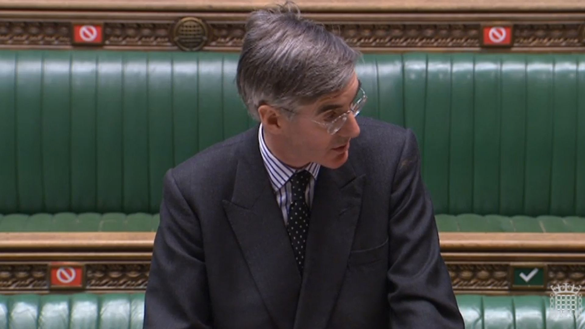 Jacob Rees-Mogg in the House of Commons - Credit: PA