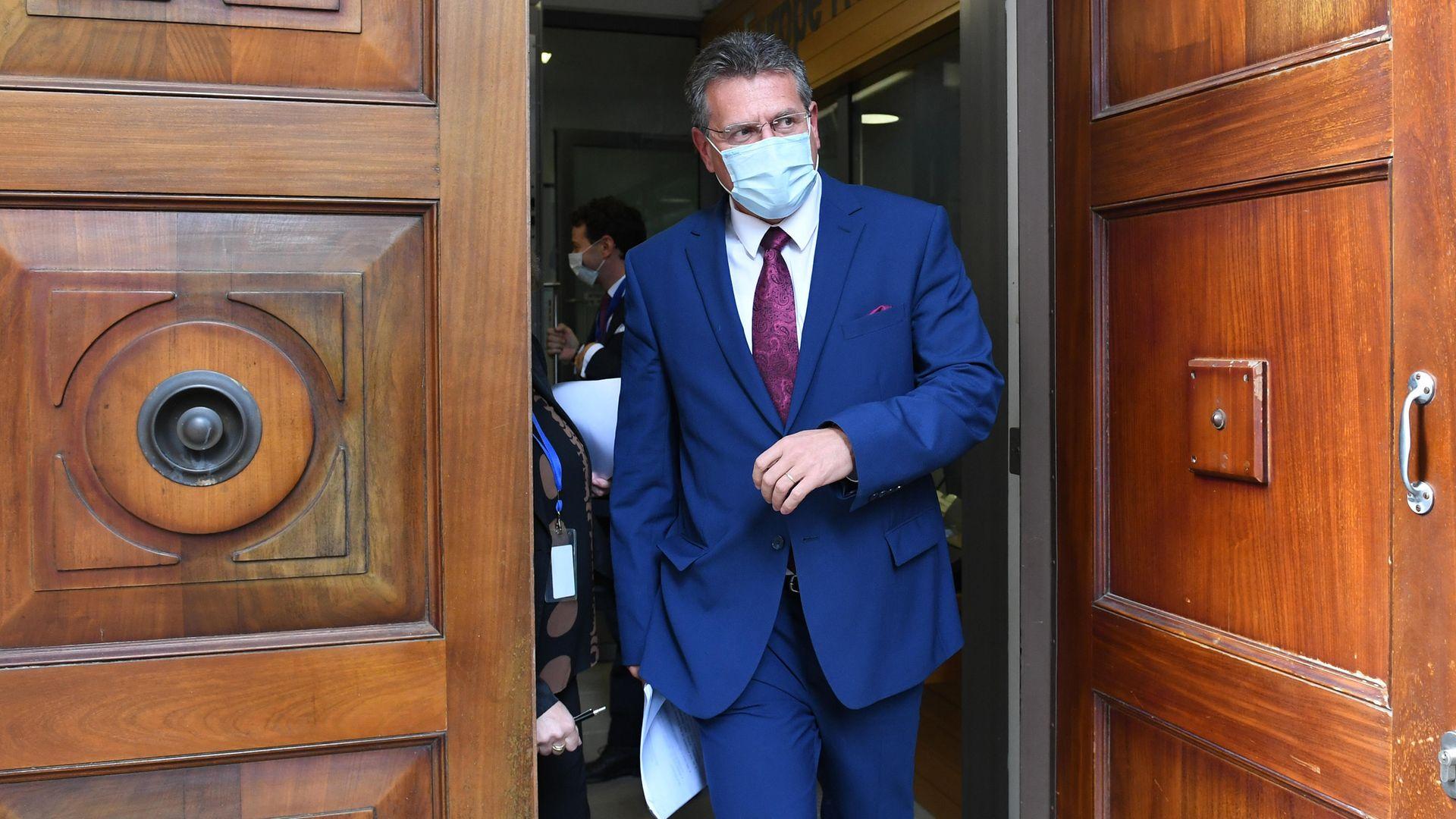 EU Commission vice-president Maros Sefcovic leaves EU House, London - Credit: PA