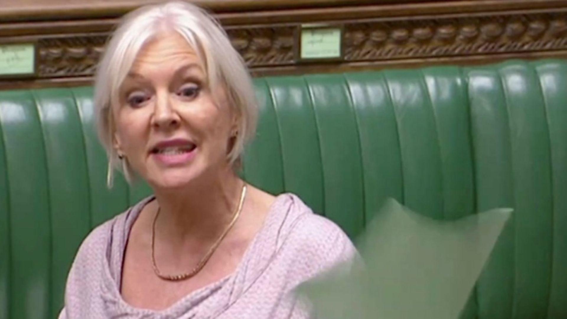 Nadine Dorries MP. Photograph: Parliament TV.