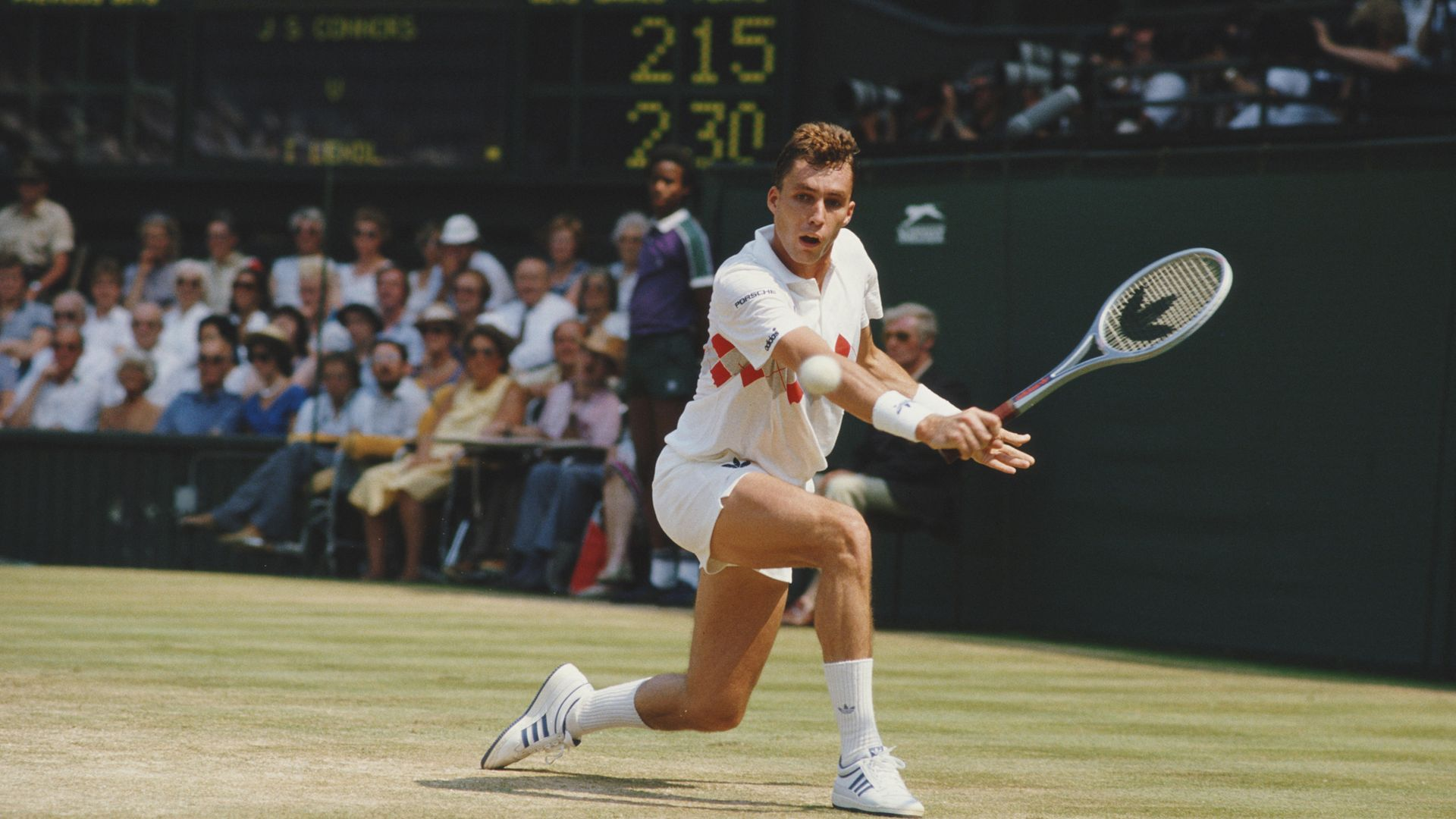 LENDL LOOKALIKE: Will Self's one time doppelganger Ivan Lendl playing at Wimbledon in 1984 - Credit: Getty Images