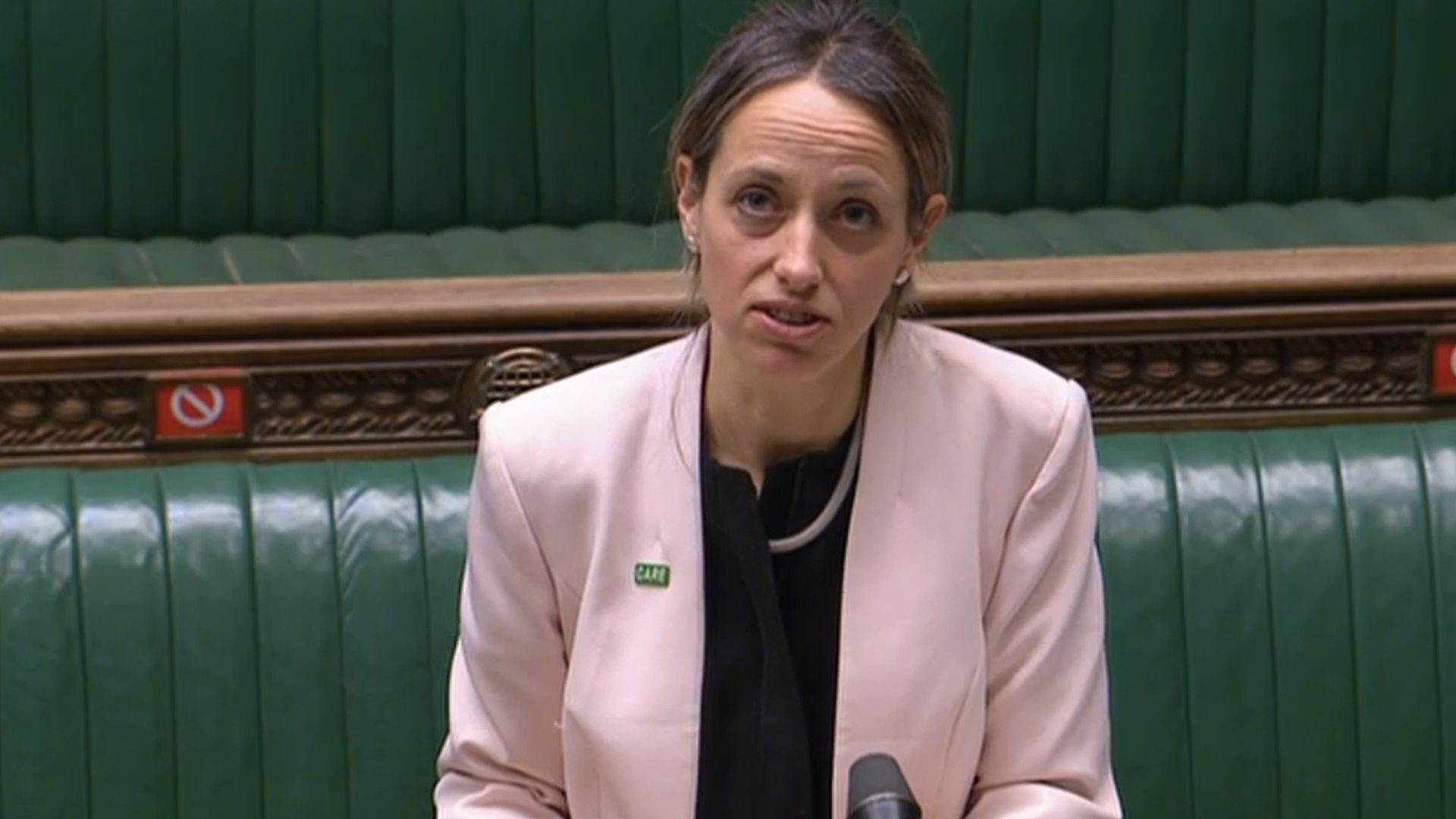 Helen Whately in the House of Commons - Credit: Parliament Live