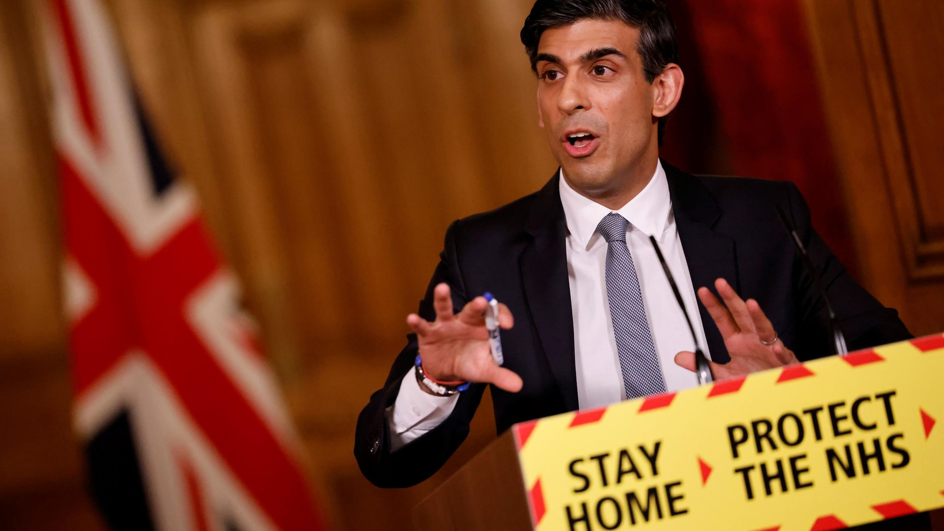 Chancellor Rishi Sunak holds a Budget press conference on March 3, 2021 - Credit: Photo by Tolga Akmen /WPA Pool/Getty Images
