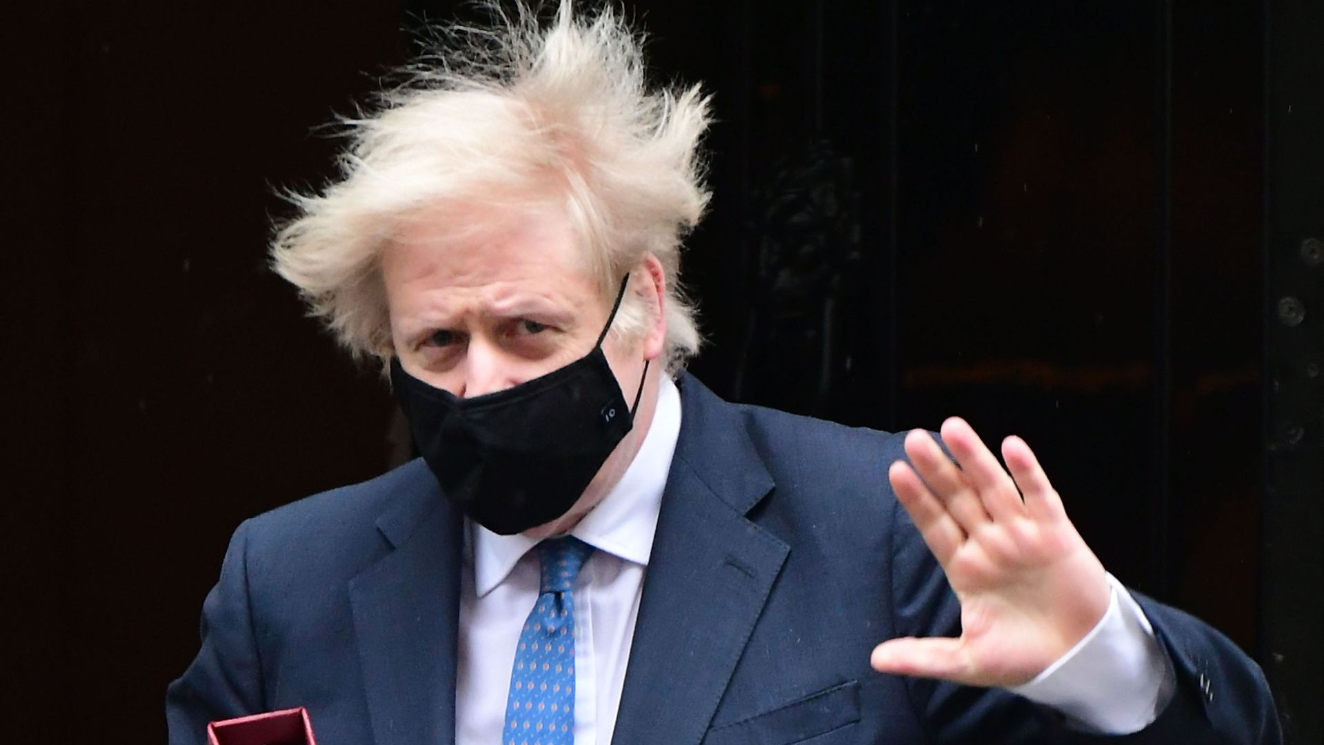 Prime minister Boris Johnson leaves 10 Downing Street to attend Prime Minister's Questions at the Houses of Parliament, London - Credit: PA