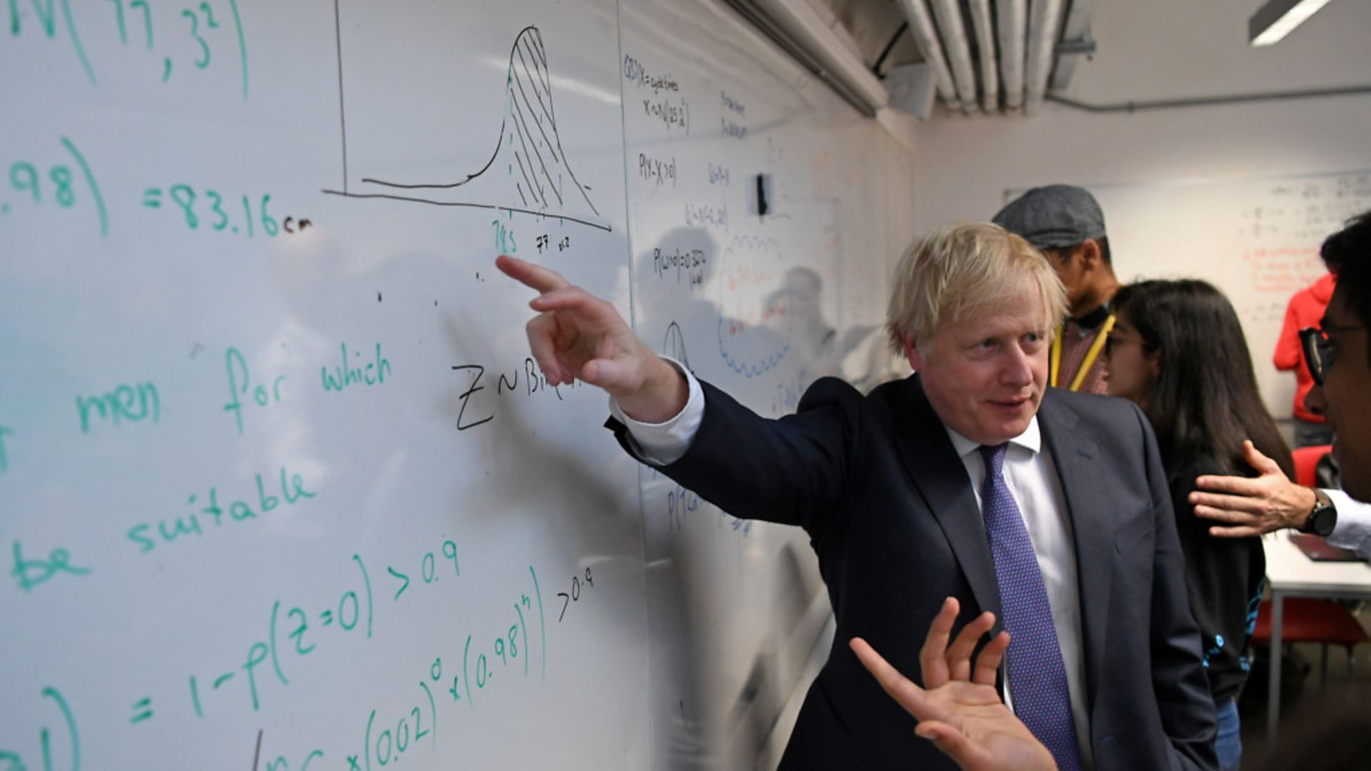 Prime minister Boris Johnson during a visit to a school - Credit: PA Wire/PA Images