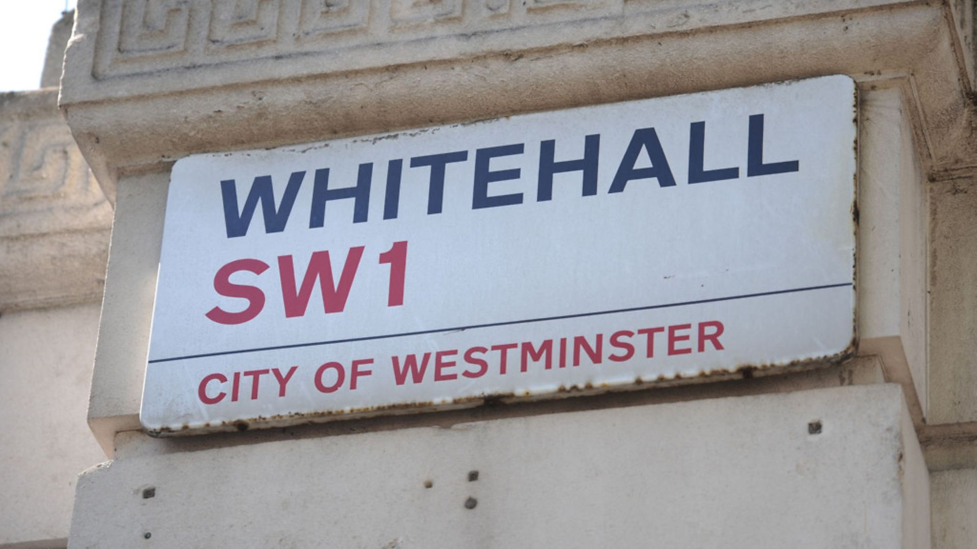 Whitehall street sign - Credit: PA Wire/PA Images