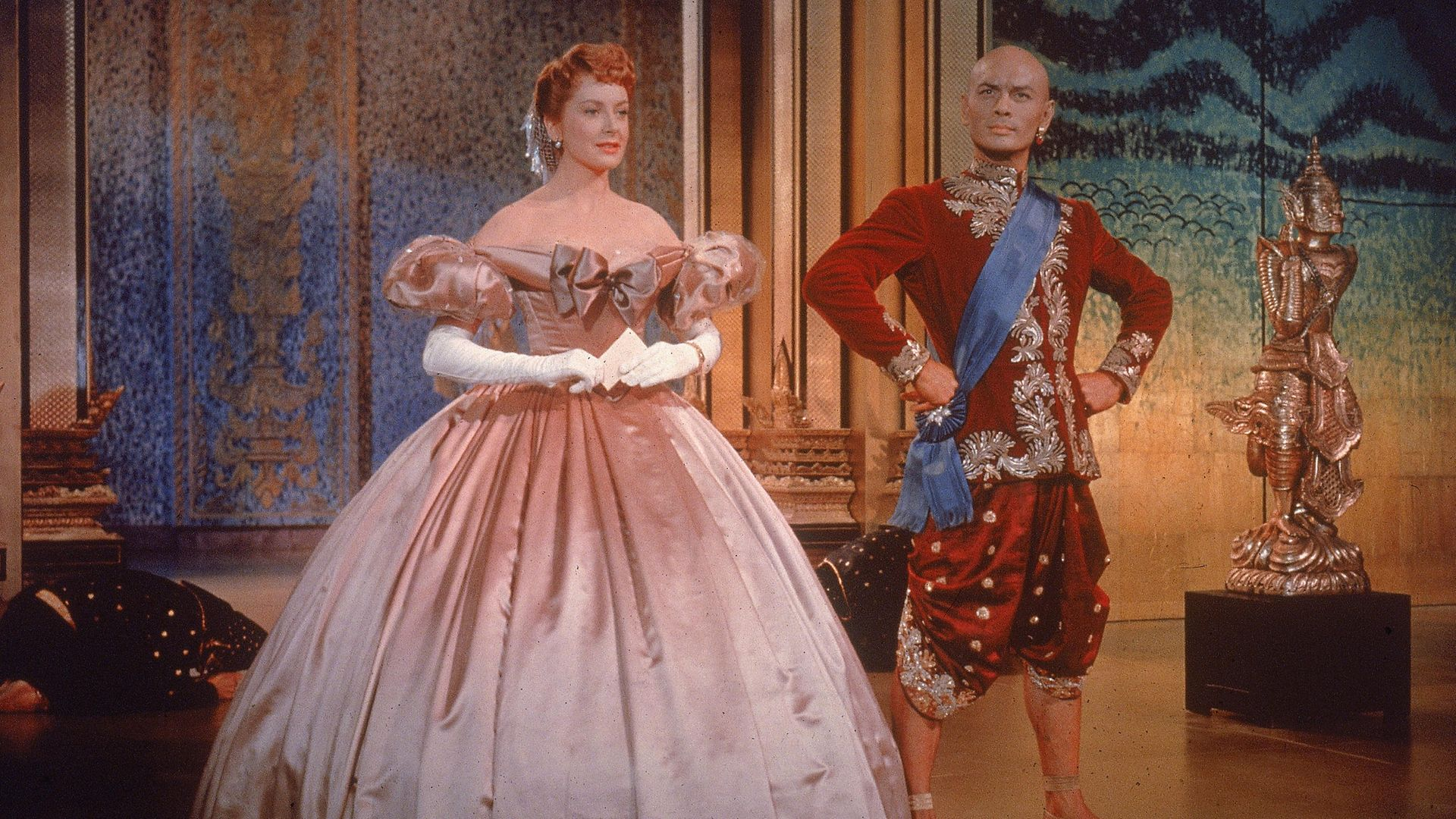 Yul Brynner, as King Mongkut, and Deborah Kerr, as Anna Leonowens, in The King and I - Credit: Getty Images