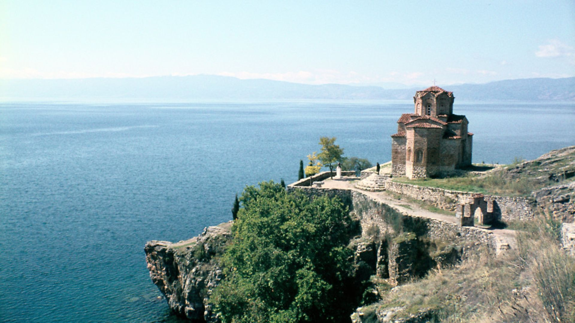 Church of St John the Divine, Kaneo, Lake Ohrid, Macedonia. Built on a bluff overlooking the lake, this church was built in the 13th century. Picture: Vivienne Sharp/Heritage Images/Getty Images - Credit: Heritage Images/Getty Images