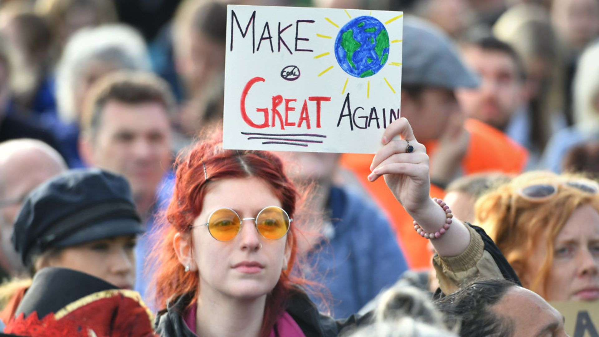 MAKE THE WORLD GREAT AGAIN: Climate change protesters in London - Credit: PA Wire/PA Images