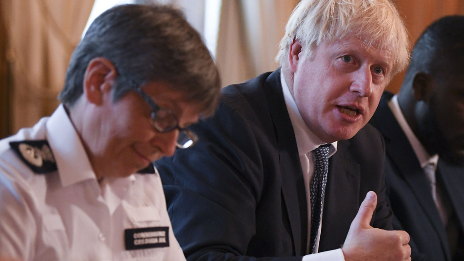 Prime Minister Boris Johnson in Downing Street, with Metropolitan Police Commissioner Cressida Dick - Credit: PA Wire/PA Images