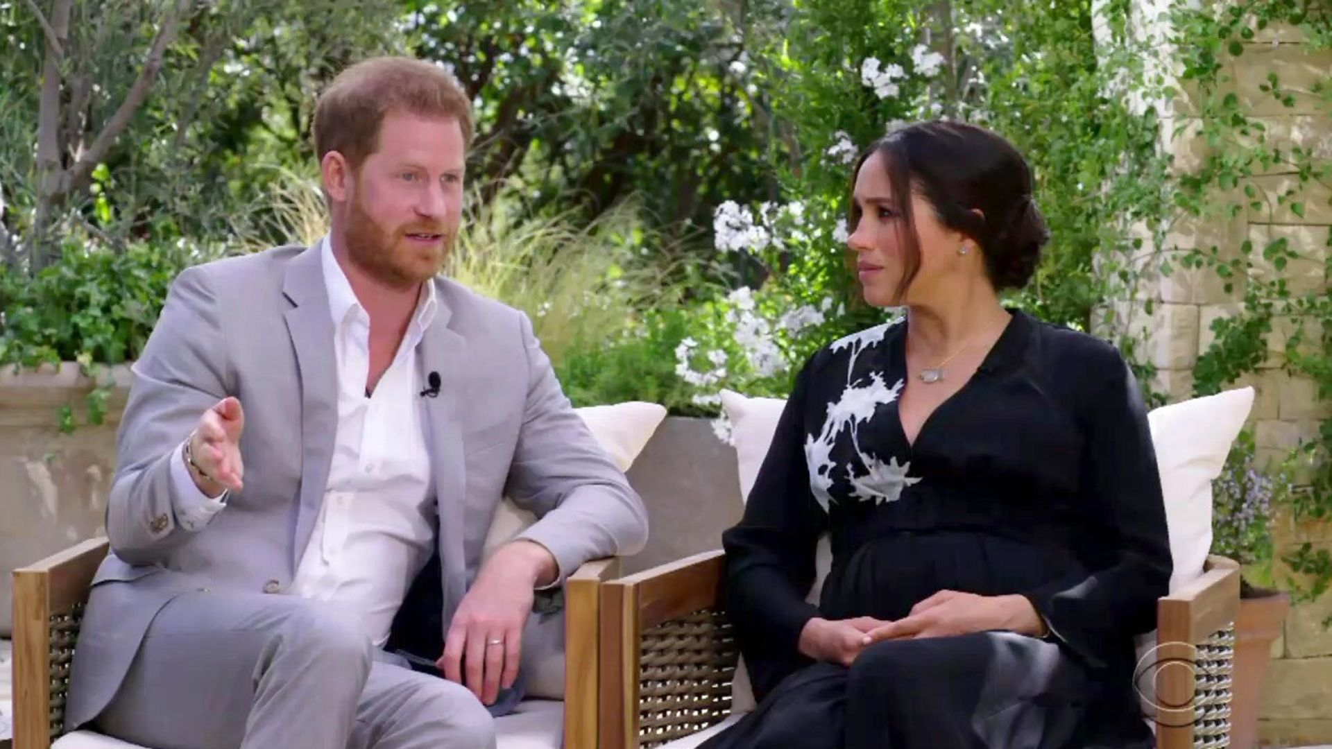 Harry and Meghan are interviewed by Oprah - Credit: CBS