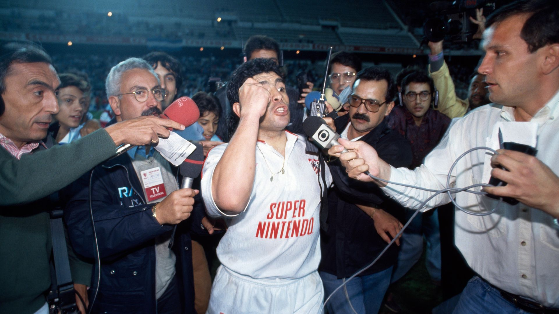 Diego Maradona playing for Seville in 1992 - Credit: Gamma-Rapho via Getty Images