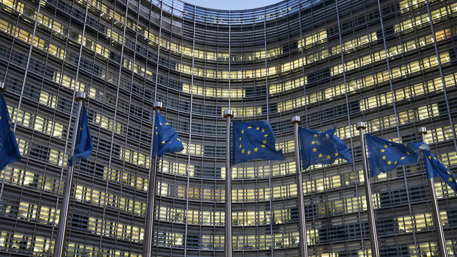 European flags in front of the Berlaymont building, headquarters of the European Commission in Brussels, Belgium. Picture: Getty Images - Credit: NurPhoto via Getty Images