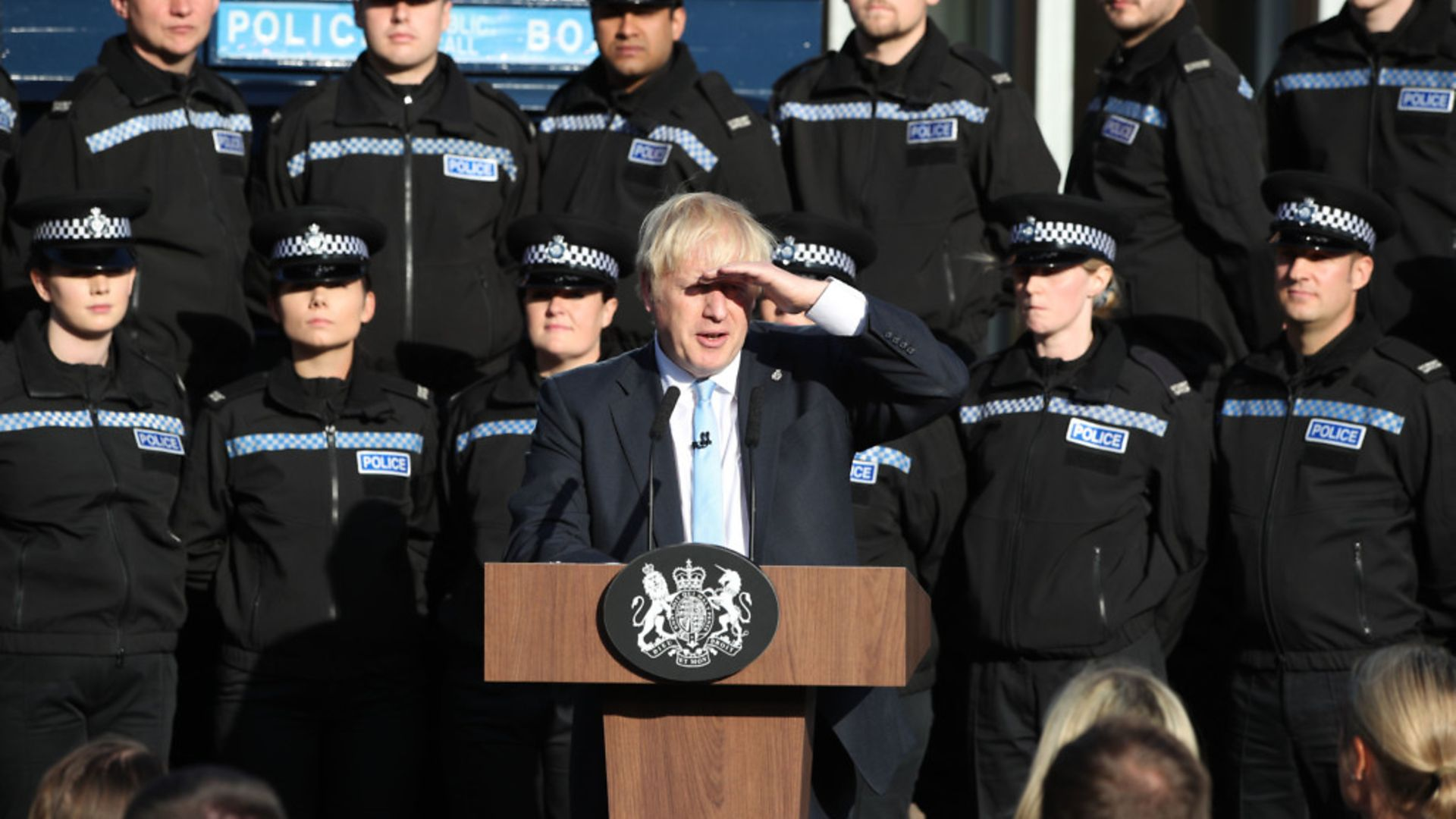 Boris Johnson making a speech during a visit to West Yorkshire - Credit: PA