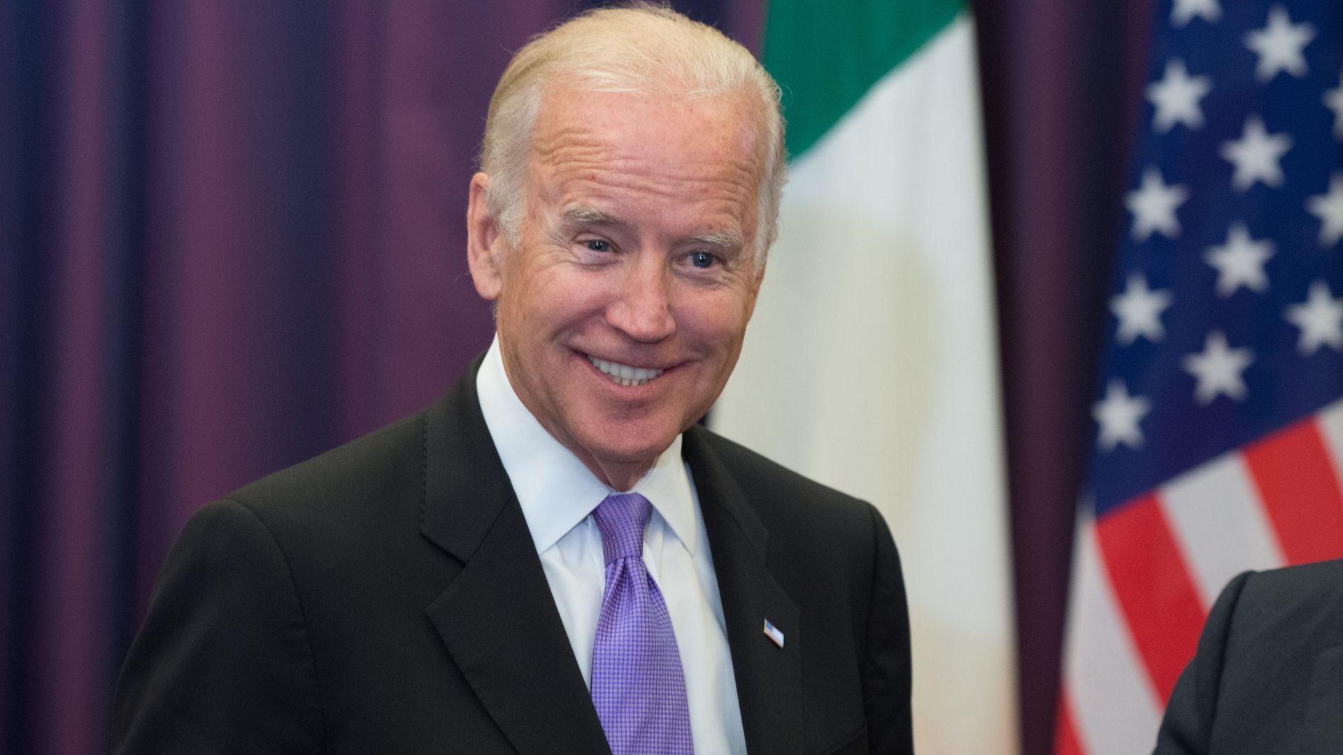 Joe Biden at the government Buildings, Dublin, Ireland during a 2015 tour - Credit: PA