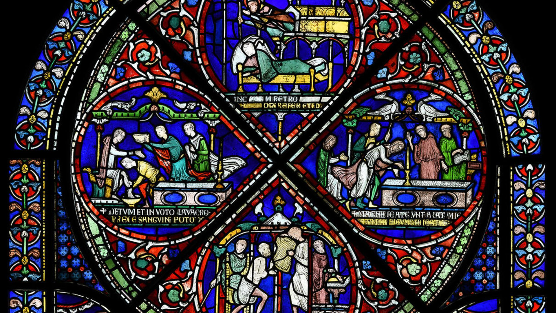 The 'Miracle Window' at Canterbury Cathedral, made after the murder of Thomas Becket - Credit: Canterbury Cathedral
