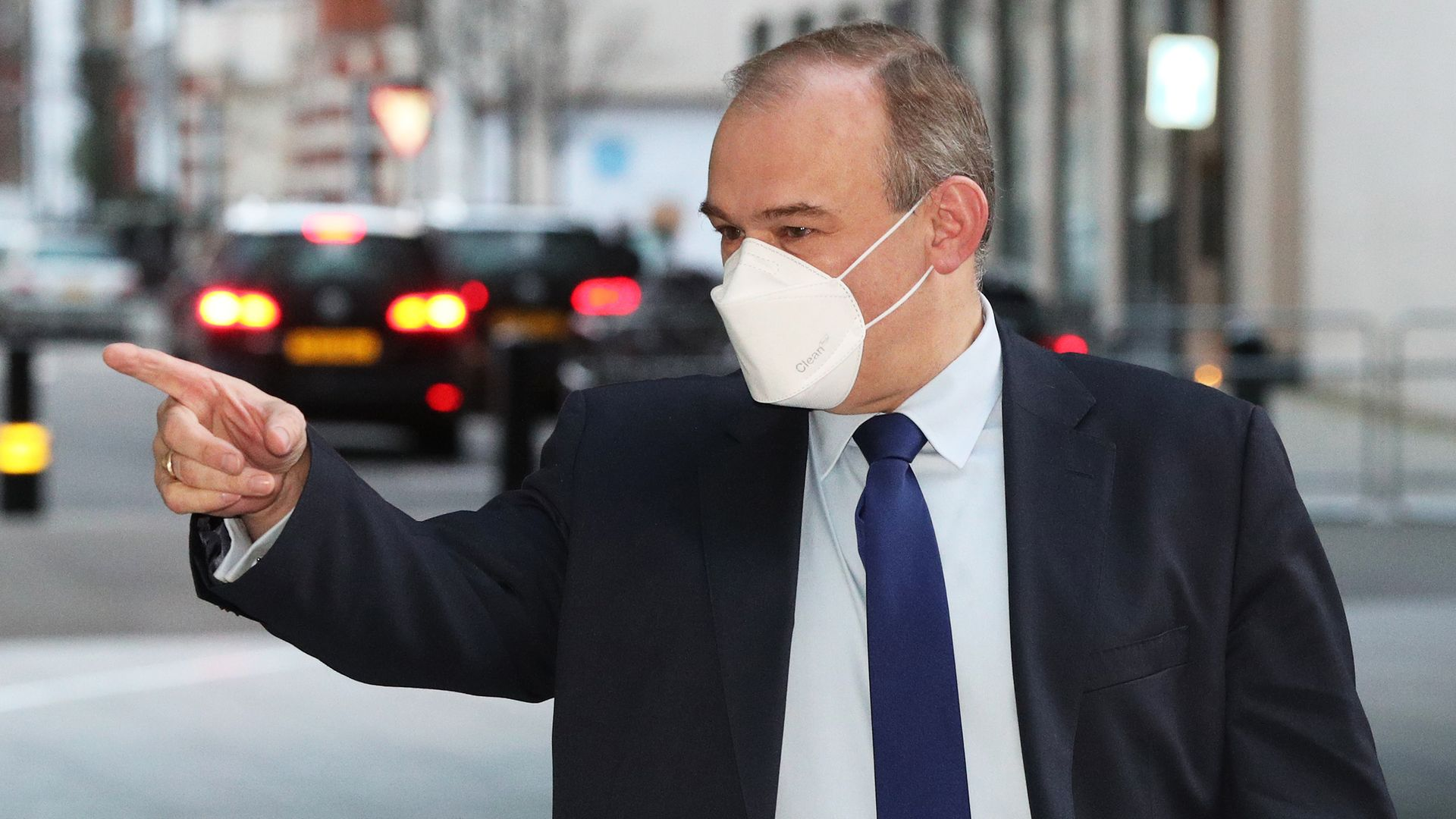 Liberal Democrats leader Ed Davey arriving at BBC Broadcasting House in central London - Credit: PA