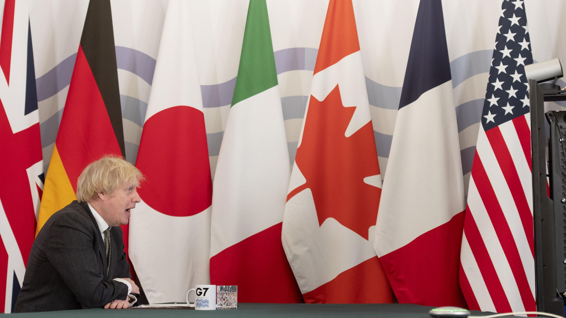 Prime Minister Boris Johnson hosting the G7 leaders for a virtual meeting - Credit: PA