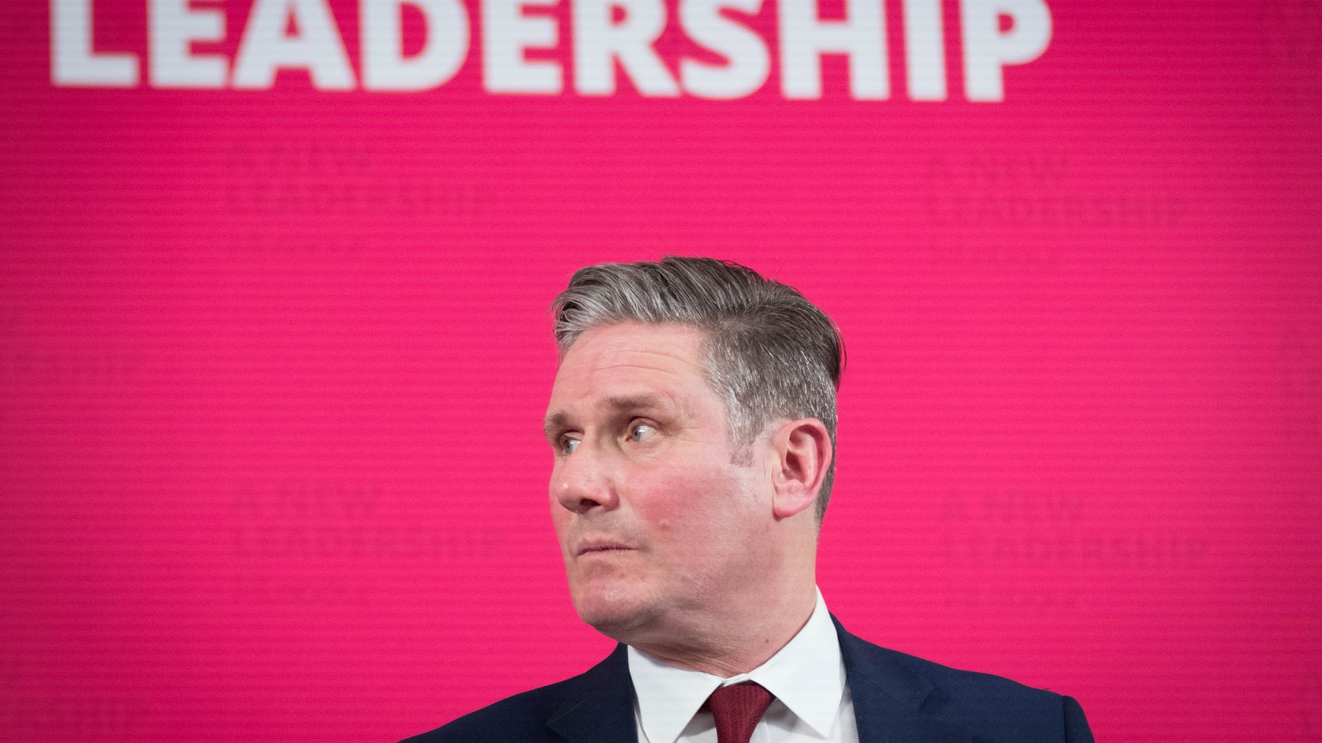 Labour leader Sir Keir Starmer delivers a virtual speech - Credit: PA