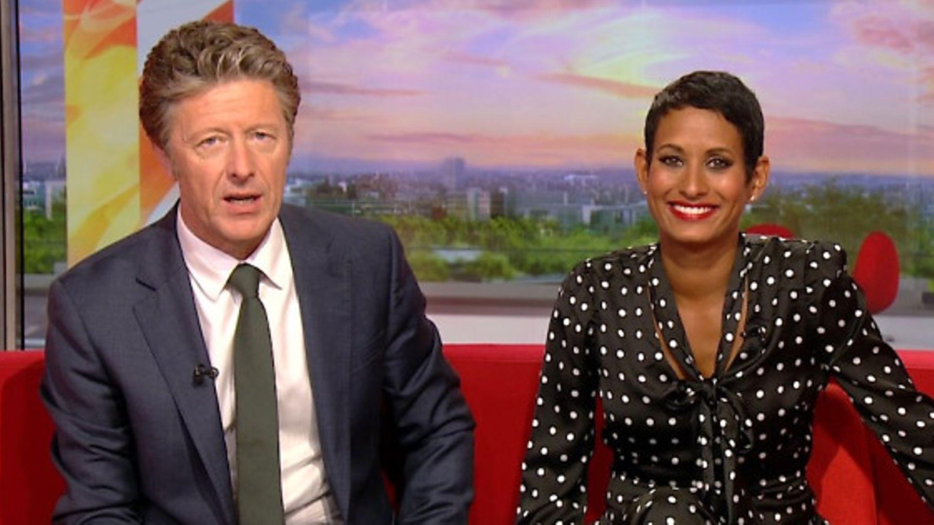Charlie Stayt and Naga Munchetty - Credit: BBC