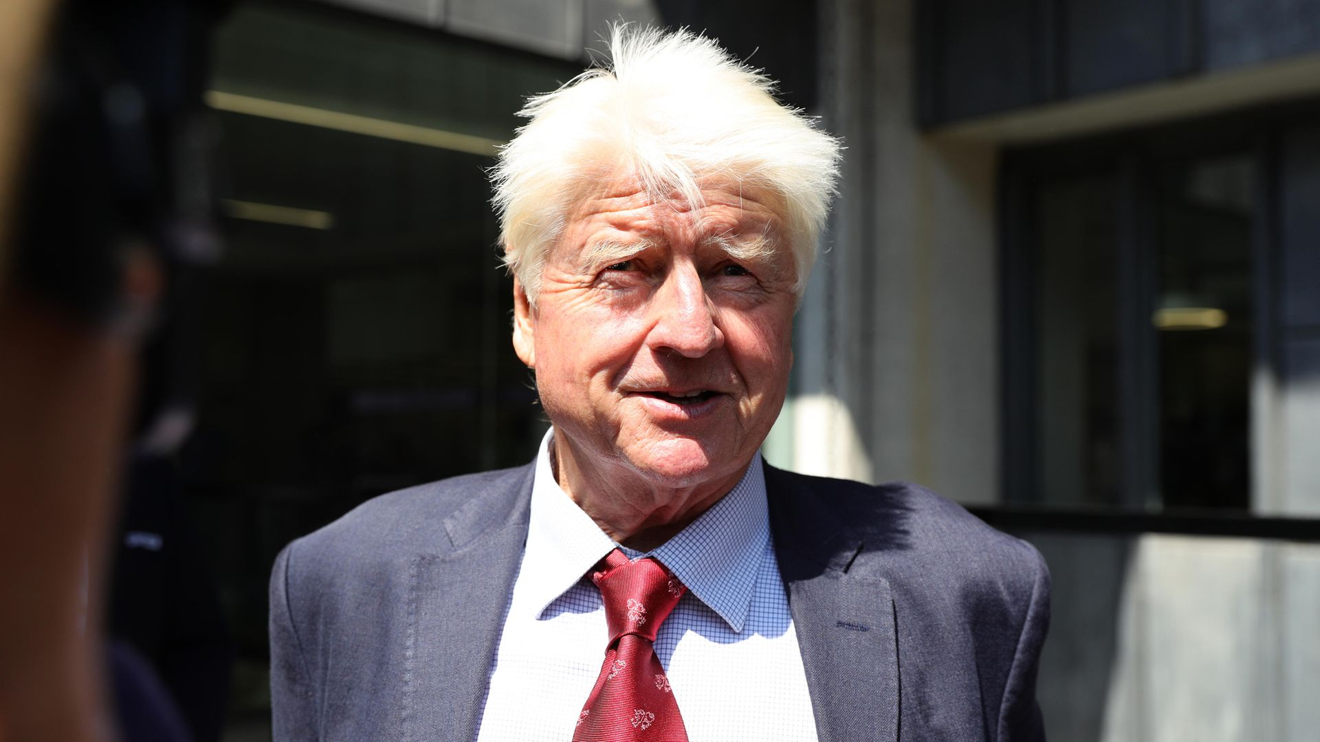 Stanley Johnson leaving the Queen Elizabeth II Centre in London - Credit: PA
