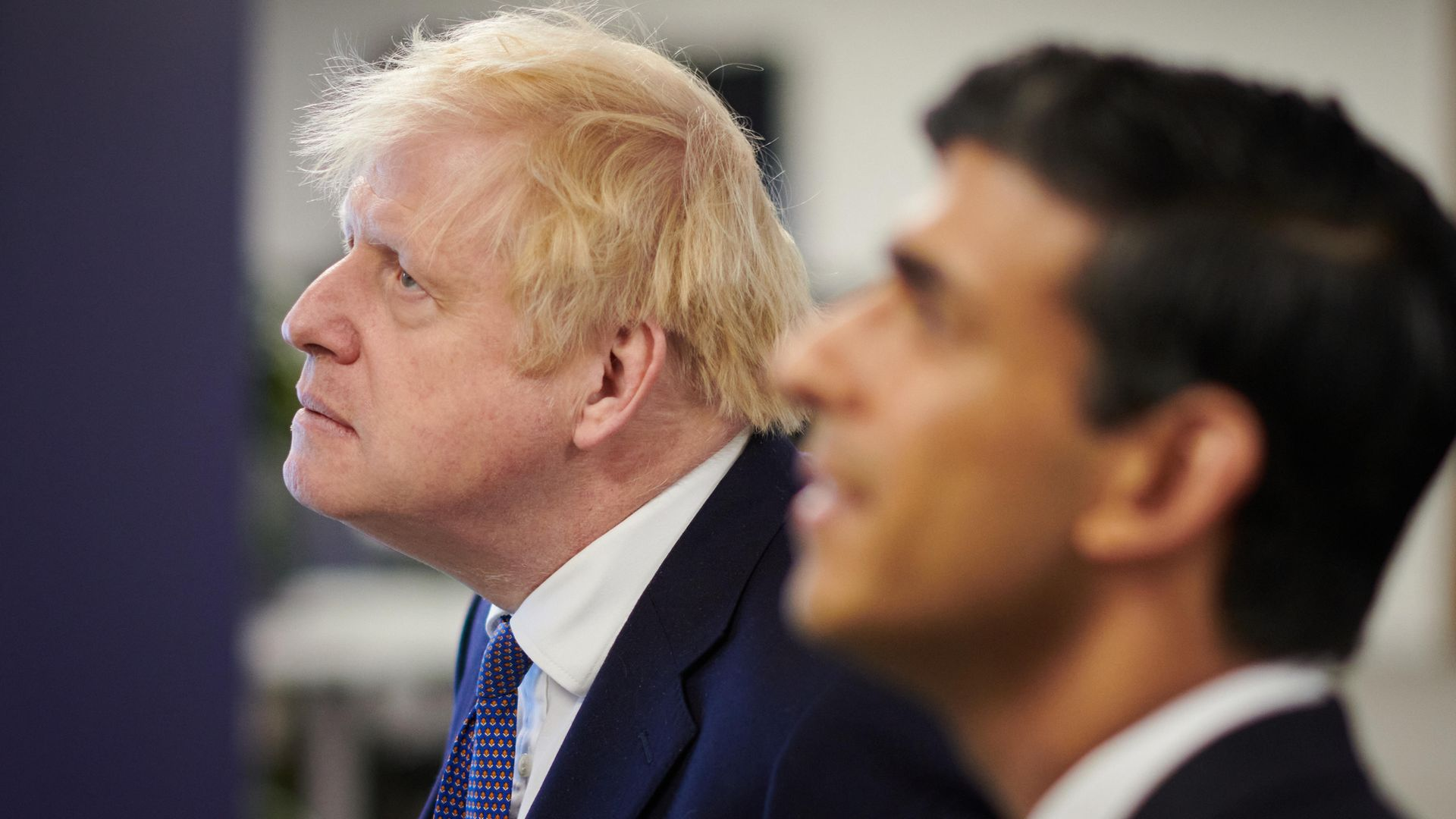 Prime minister Boris Johnson and chancellor Rishi Sunak during a visit to the headquarters of Octopus Energy in London - Credit: PA