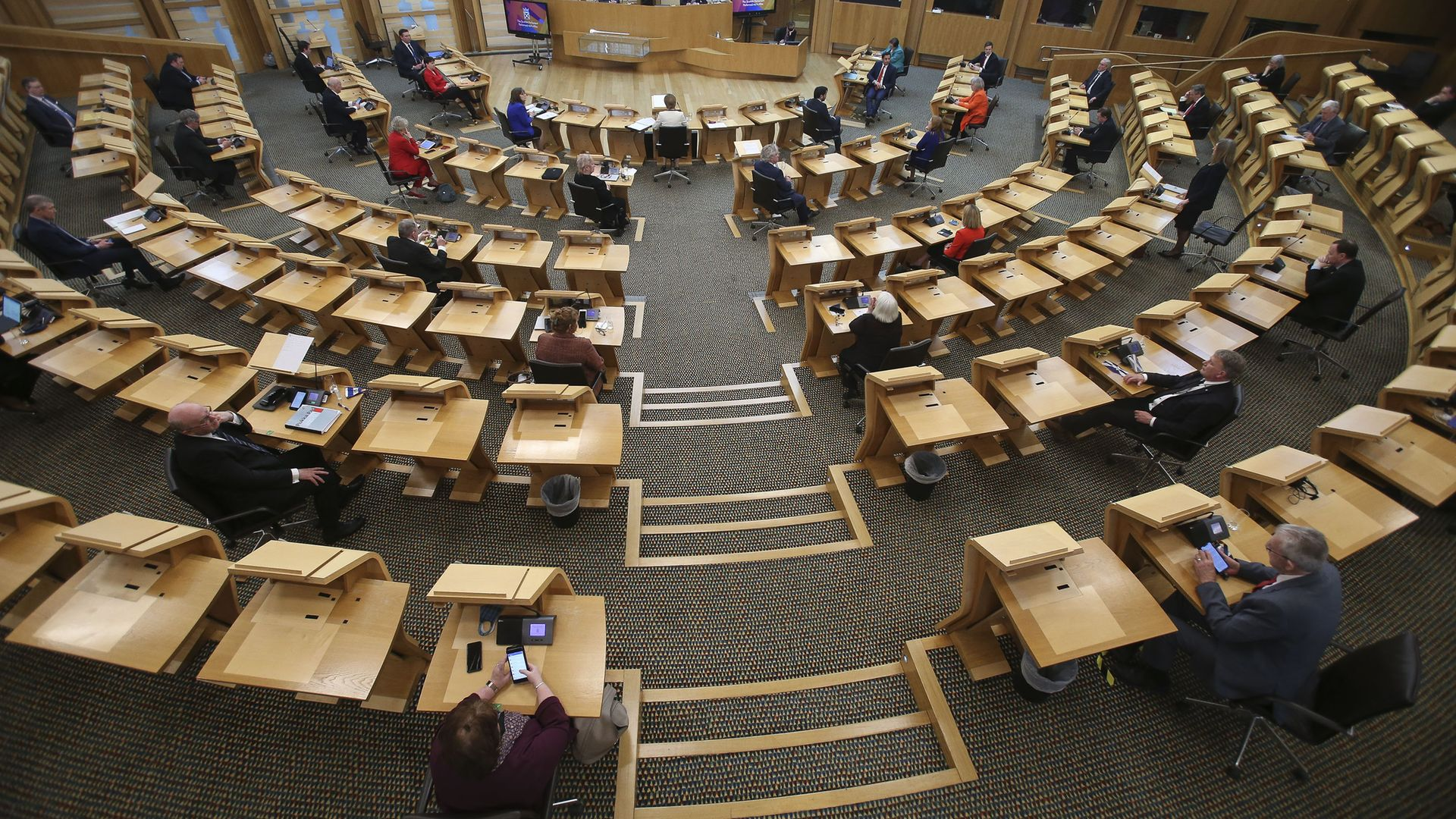 Picture of the Scottish parliament in Holyrood, Edinburgh - Credit: PA