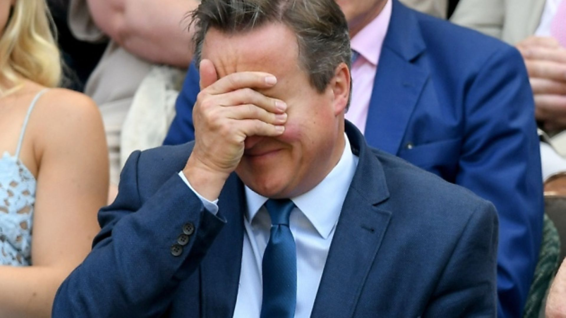 David Cameron facepalms. Photo: Karwai Tang/Getty Images
