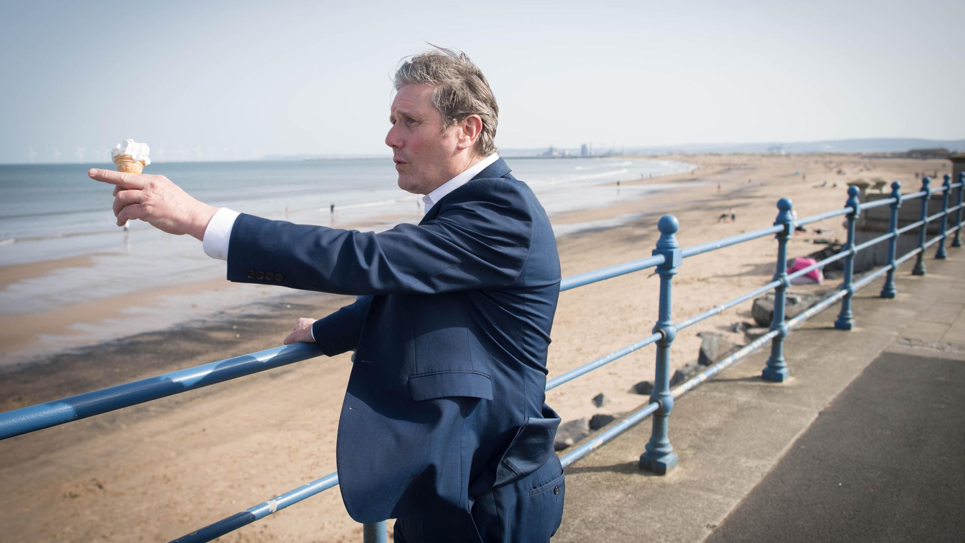 Labour Party leader Sir Keir Starmer meets local people in Seaton Carew in County Durham during a day of campaigning - Credit: PA