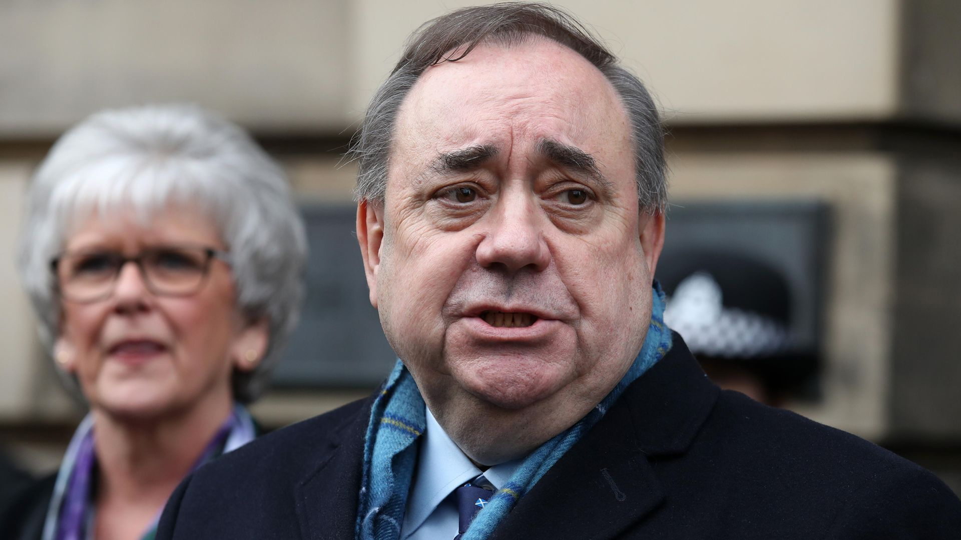 Scotland's former first minister Alex Salmond who has announced he is setting up a new political party to run in the Scottish Parliament elections in May - Credit: PA