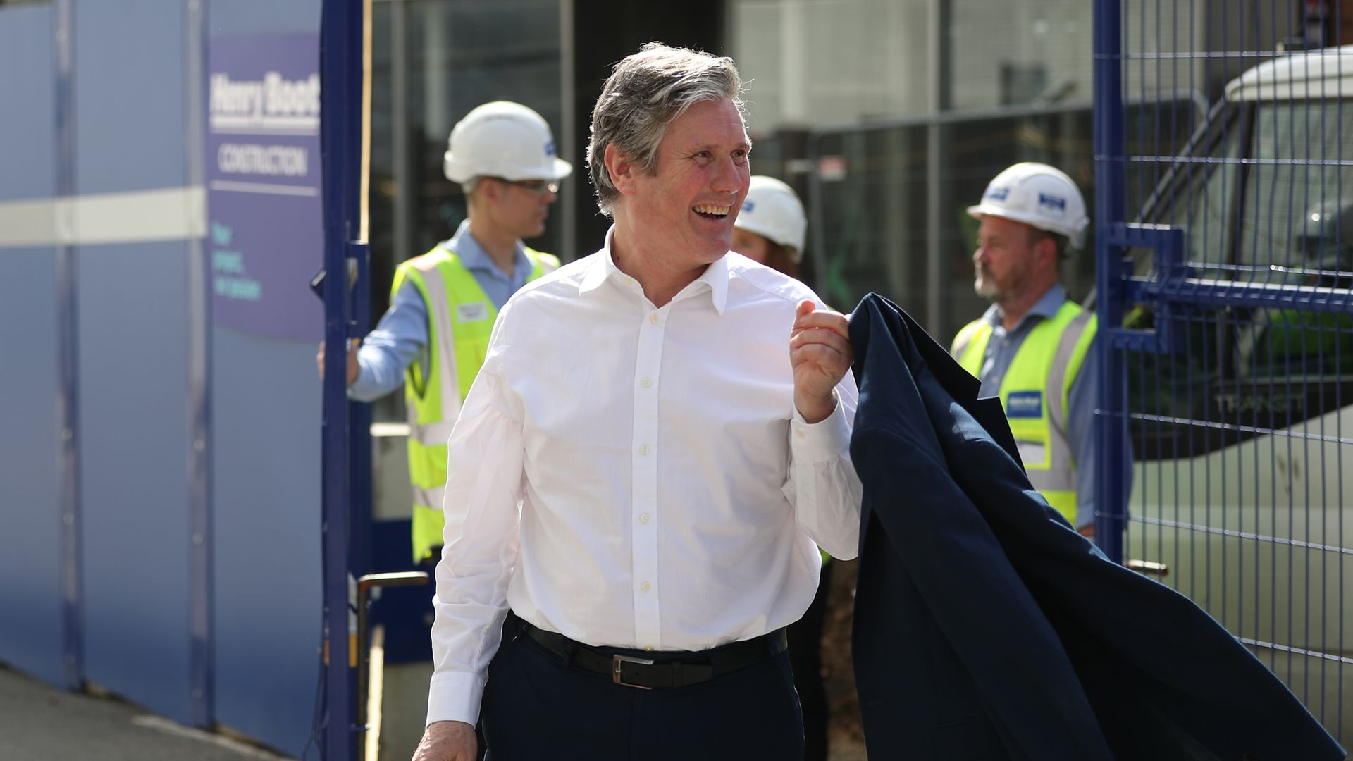 Labour Party leader Sir Keir Starmer during a visit to Sheffield, South Yorkshire, ahead of May's local elections - Credit: PA