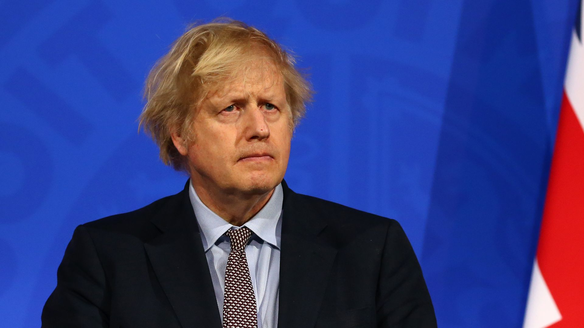 Prime minister Boris Johnson during a media briefing on coronavirus (Covid-19) from Downing Street's new White-House style media briefing room in Westminster, London - Credit: PA