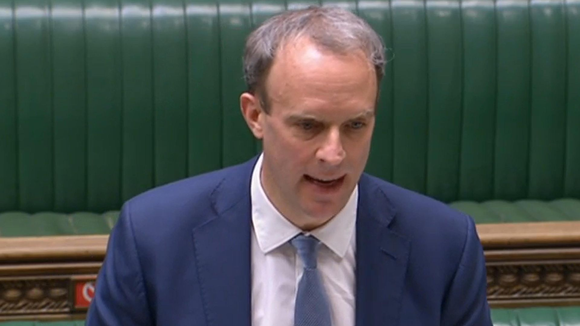 Foreign secretary Dominic Raab giving a statement in the House of Commons - Credit: PA