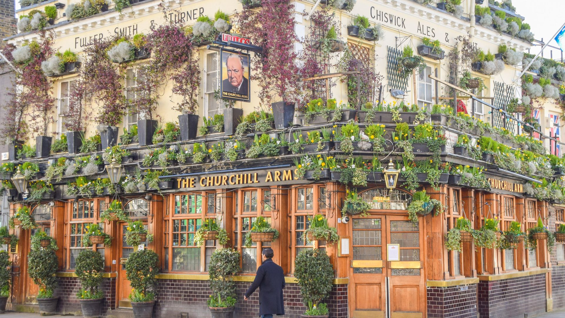 BLOOMING CLOSE: The Churchill Arms, in Kensington, west London, will be able to reopen shortly. - Credit: SOPA Images/LightRocket via Gett
