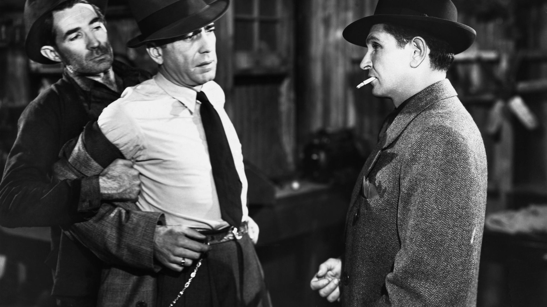 Humphrey Bogart, in The Big Sleep, as Philip Marlowe, the dogged private eye who snoops into the privacy of suspects. Or should that be 'prye-vacy'? - Credit: Corbis via Getty Images