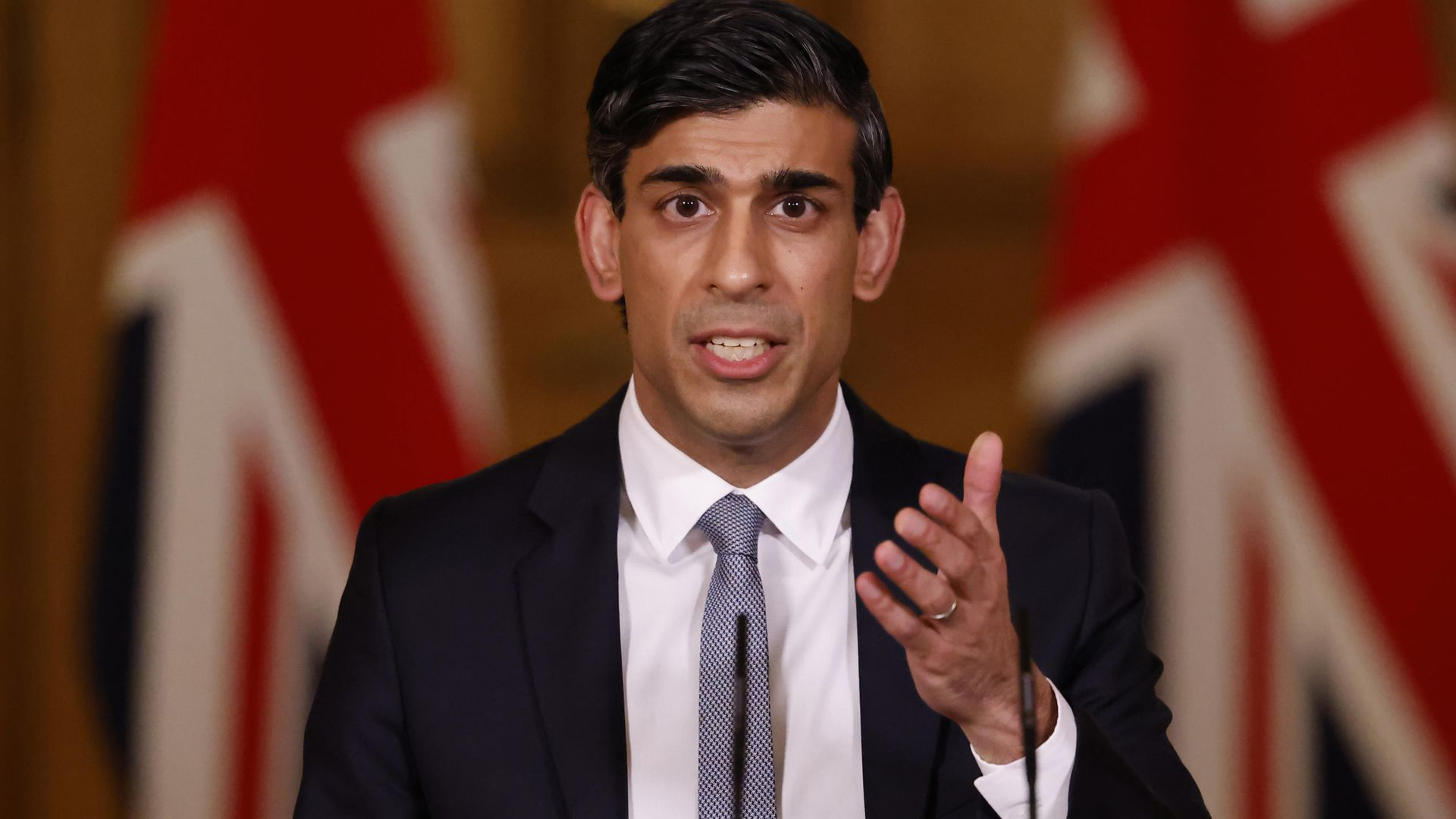 Chancellor of the Exchequer, Rishi Sunak during a press conference in 10 Downing Street, London, following the 2021 Budget in the House of Commons - Credit: PA