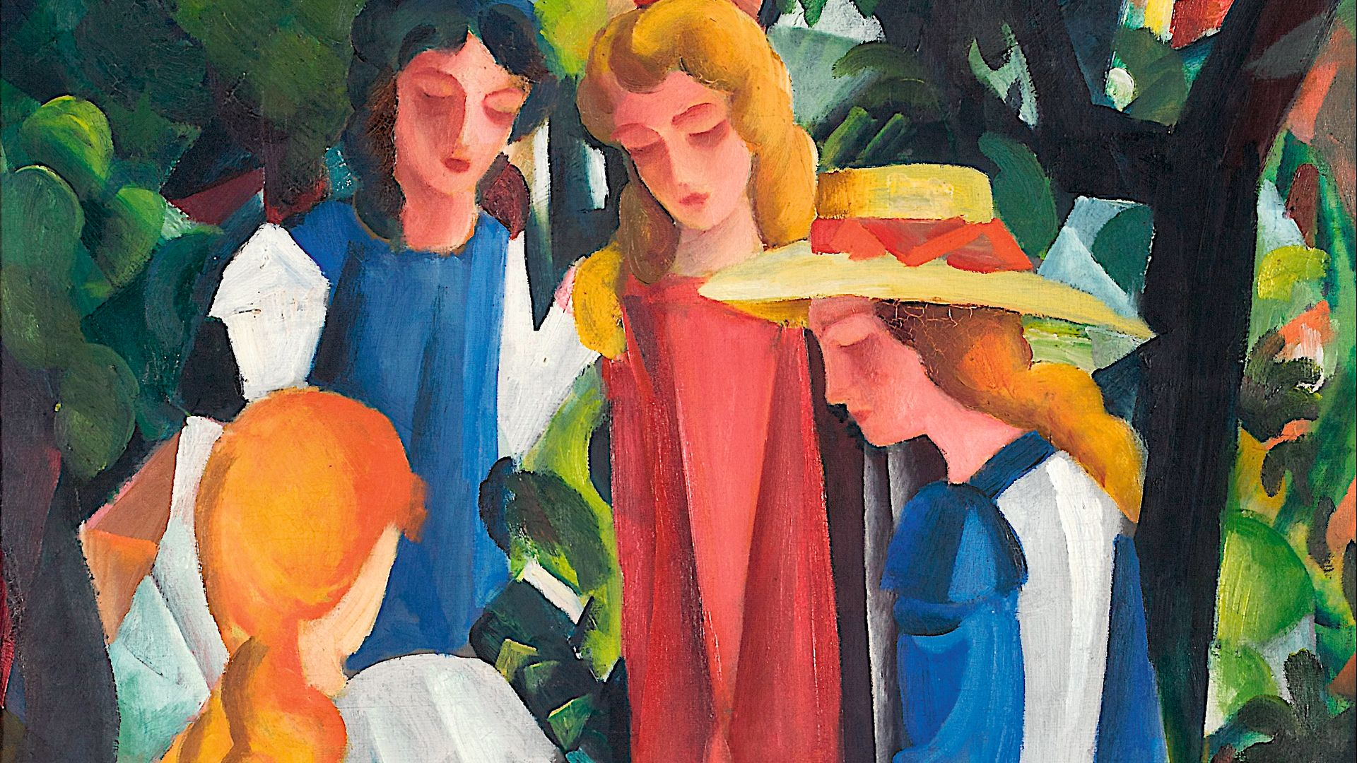 A painting by August Macke, the German expressionist who died in the First World War, aged 27 - Credit: ACC Art Books