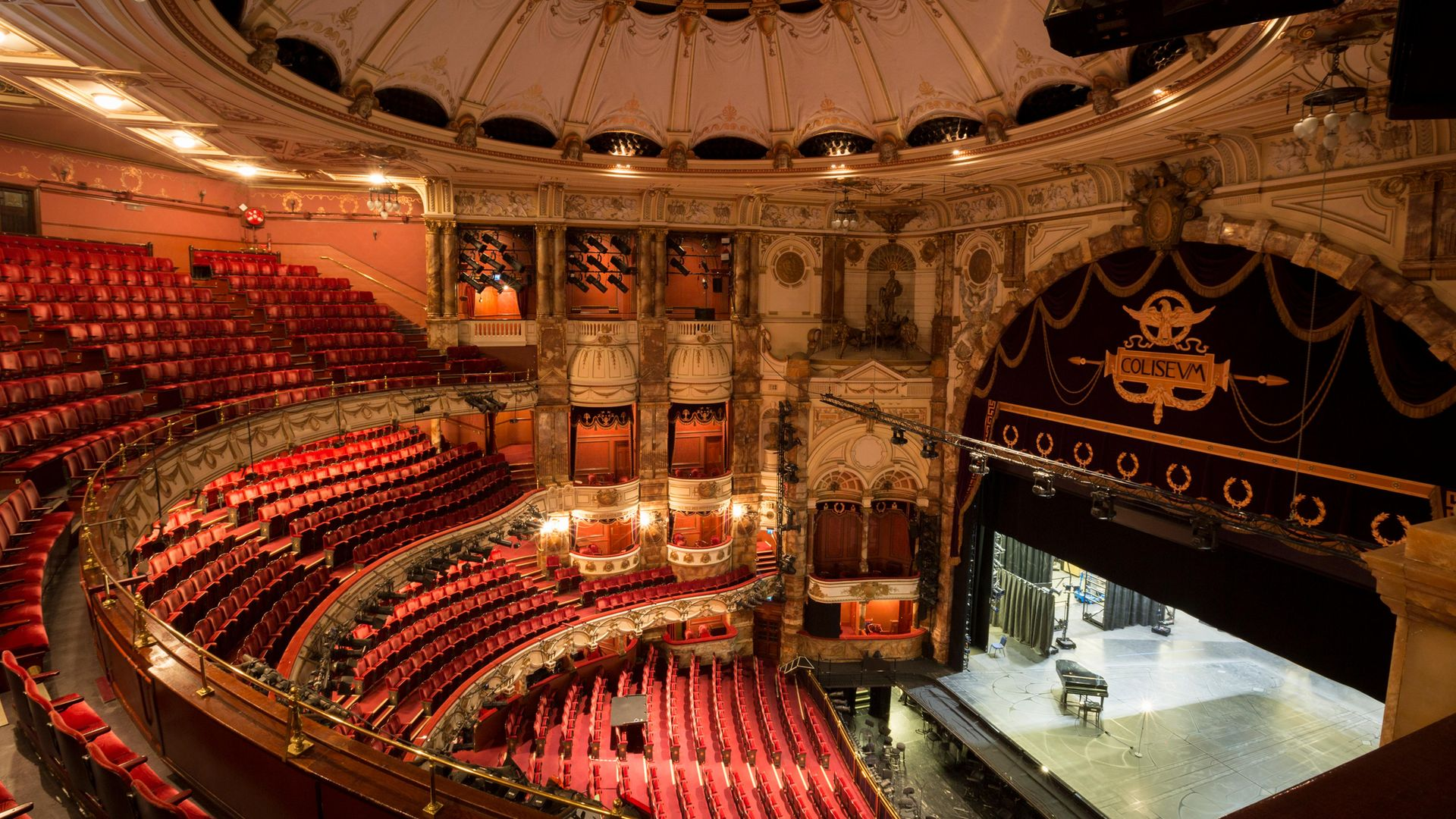 The empty auditorium of the London Coliseum, home of English National Opera (ENO) - Credit: Photo by Richard Baker / In Pictures via Getty Images