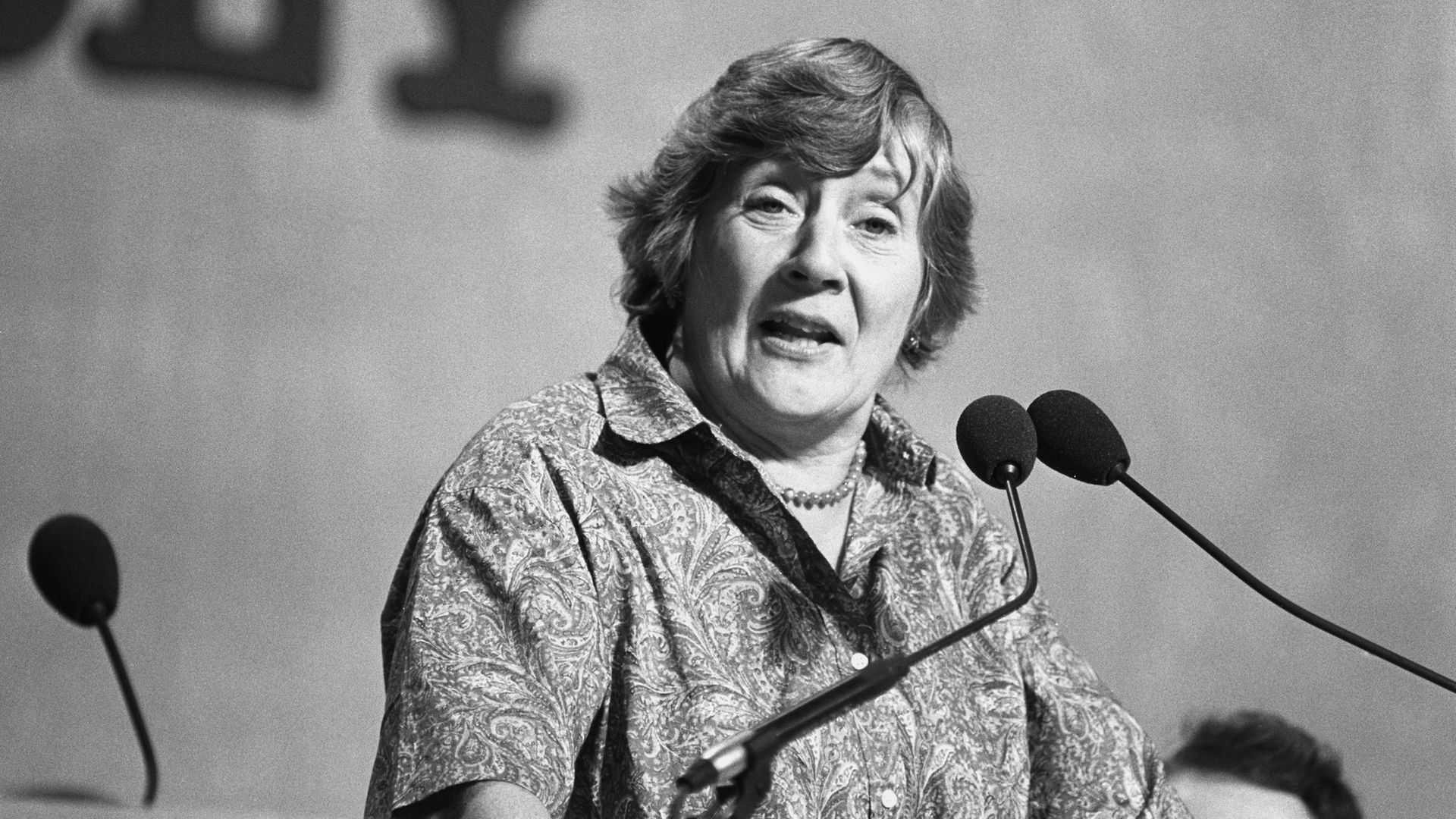 SDP President Shirley Williams addressing the first formal session of the Liberal Assembly in Harrogate - Credit: PA