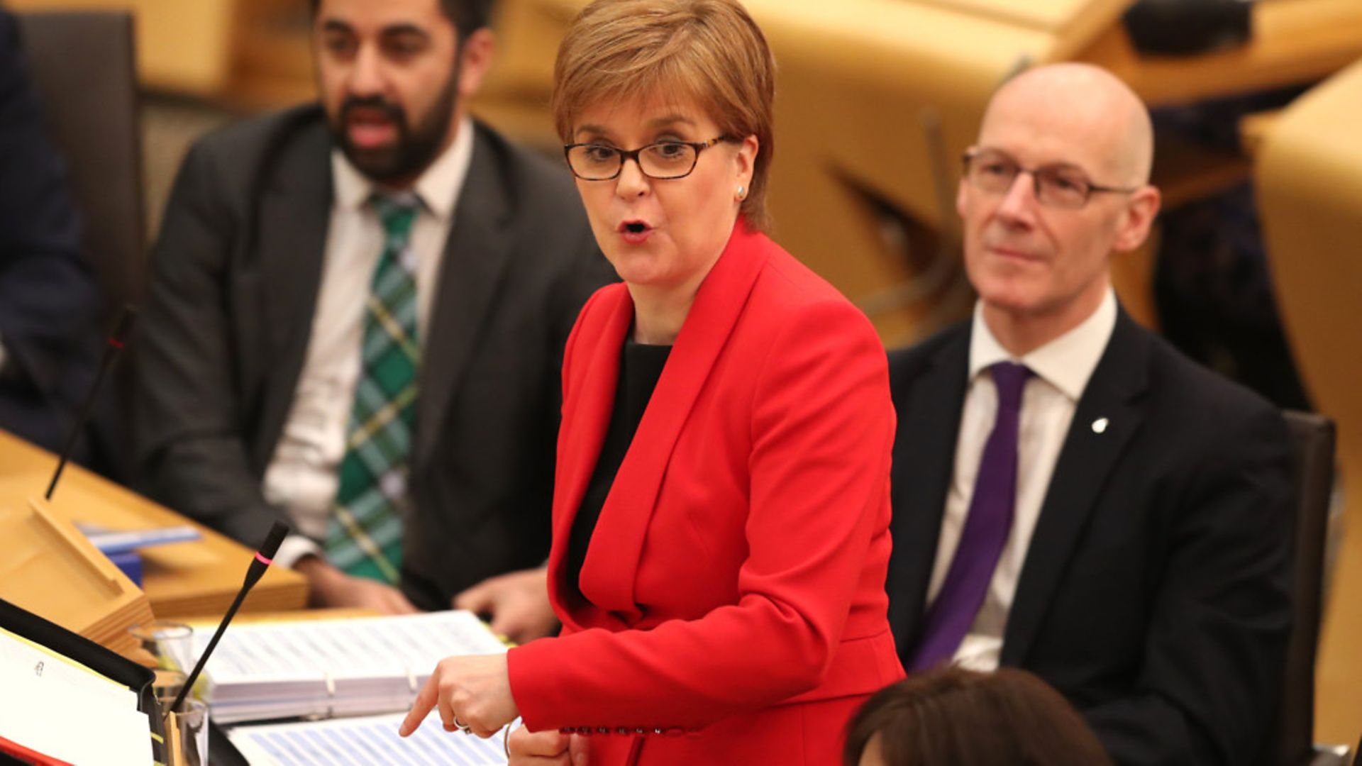 First Minister Nicola Sturgeon during First Minister's Questions at the Scottish Parliament in Edinburgh - Credit: PA Wire/PA Images